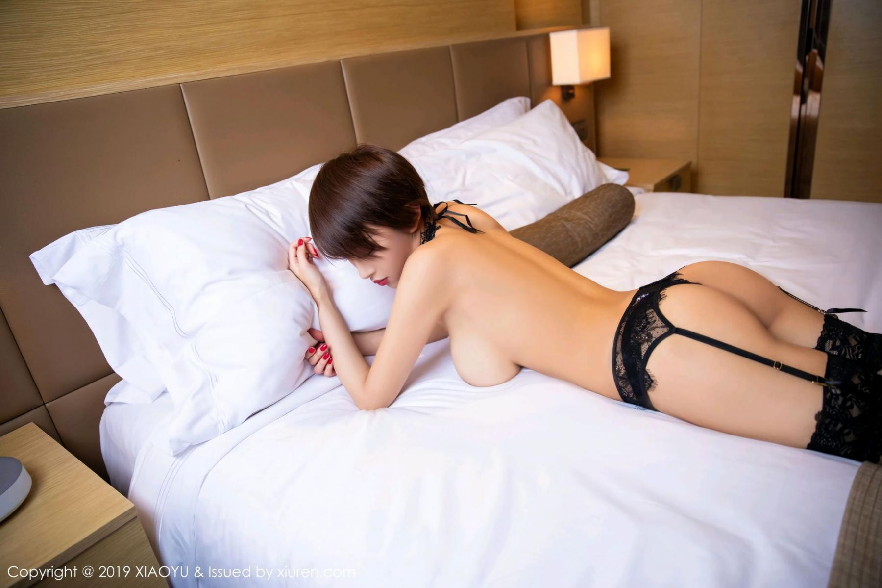 [XiaoYu] Vol.139 Li Zi Riz 45P, Black Silk, Li Zi Riz, Underwear, XiaoYu