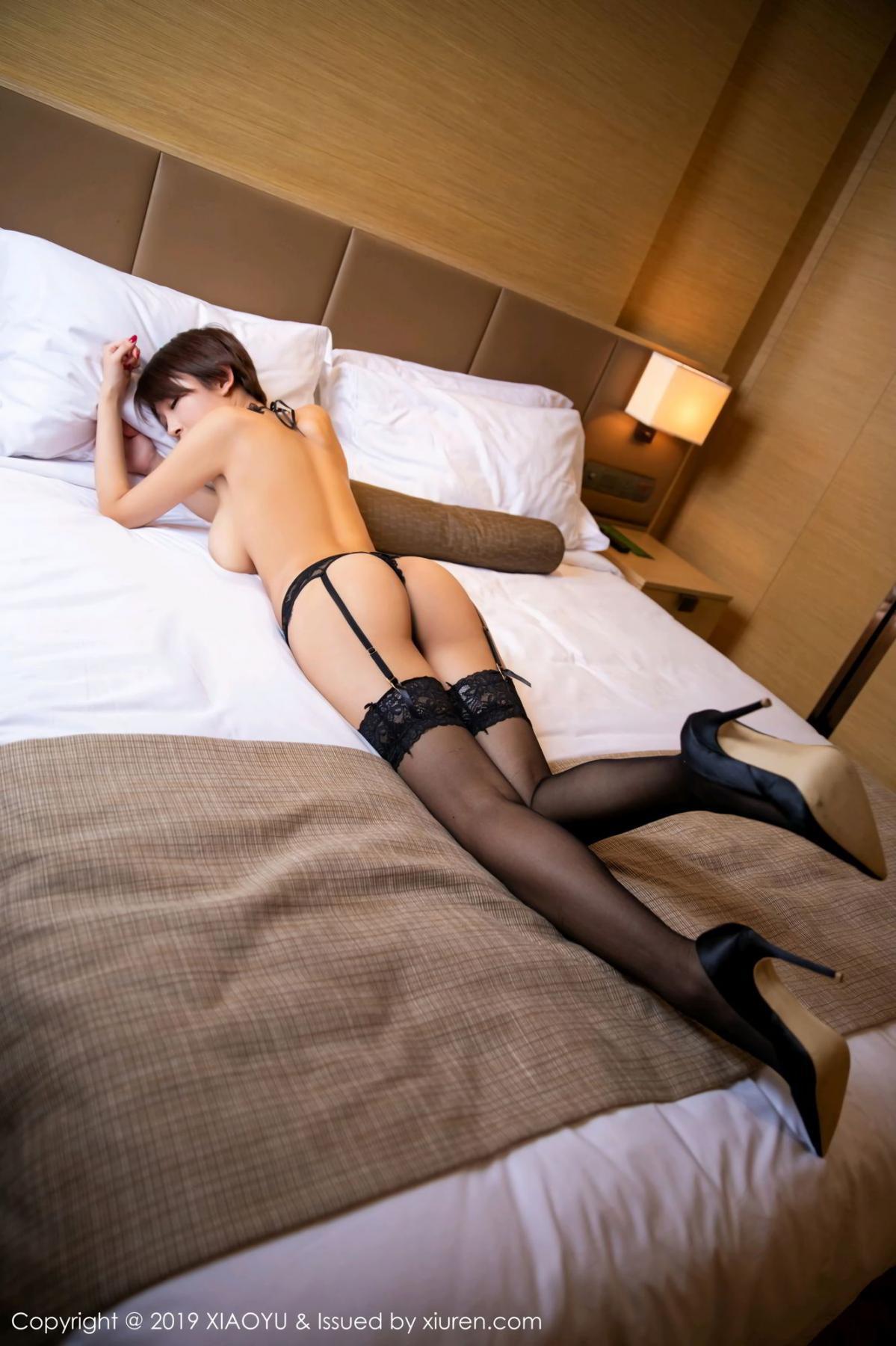[XiaoYu] Vol.139 Li Zi Riz 46P, Black Silk, Li Zi Riz, Underwear, XiaoYu