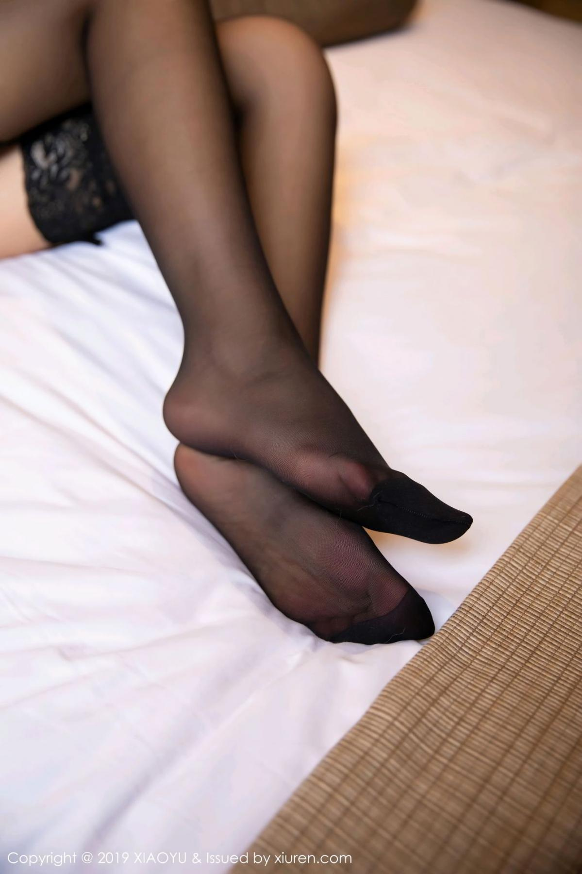 [XiaoYu] Vol.139 Li Zi Riz 49P, Black Silk, Li Zi Riz, Underwear, XiaoYu