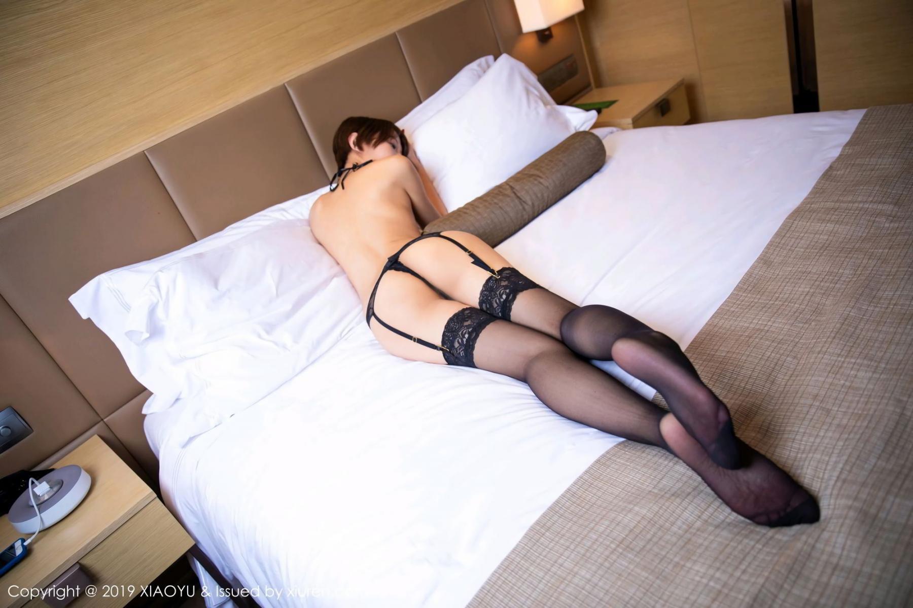 [XiaoYu] Vol.139 Li Zi Riz 50P, Black Silk, Li Zi Riz, Underwear, XiaoYu