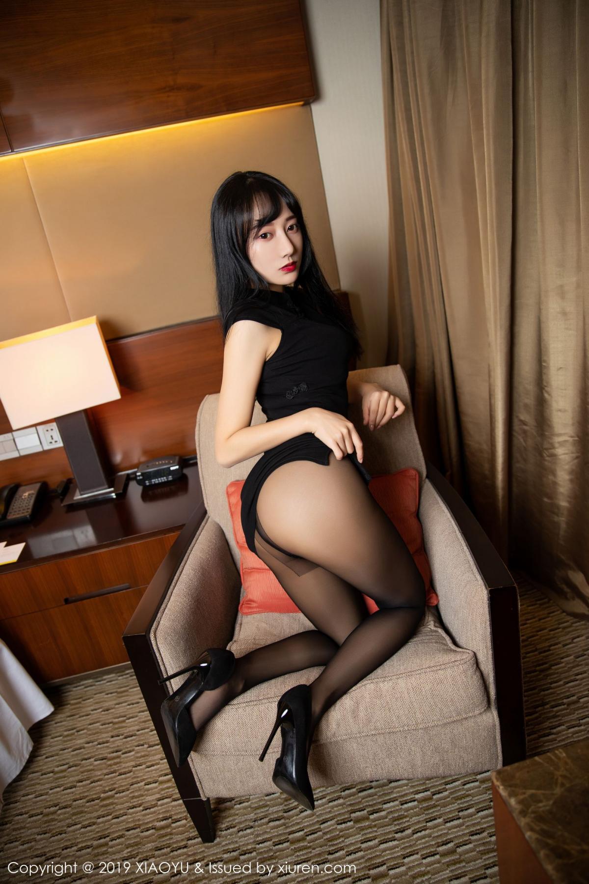 [XiaoYu] Vol.145 He Jia Ying 10P, Black Silk, He Jia Ying, Underwear, XiaoYu