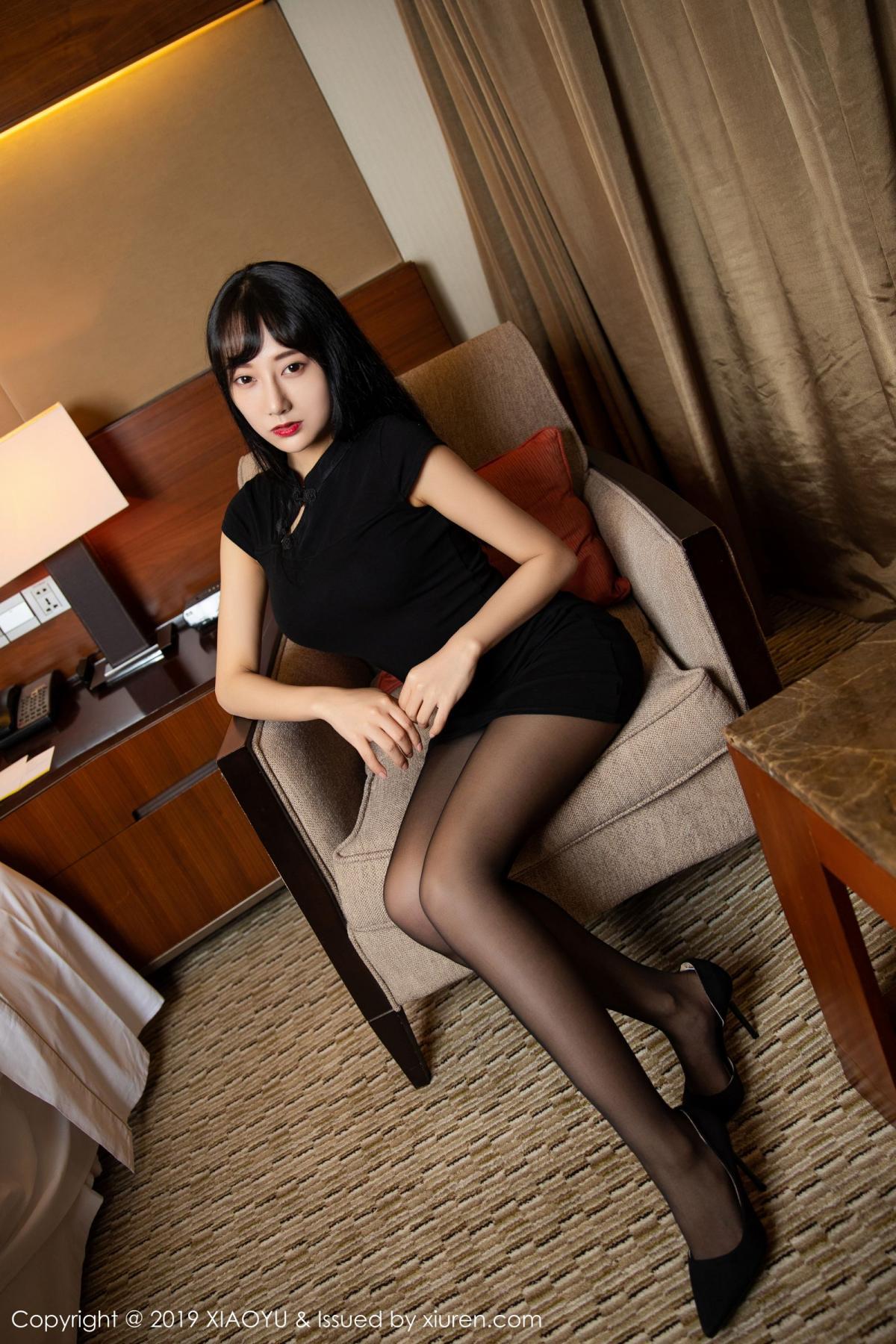 [XiaoYu] Vol.145 He Jia Ying 13P, Black Silk, He Jia Ying, Underwear, XiaoYu