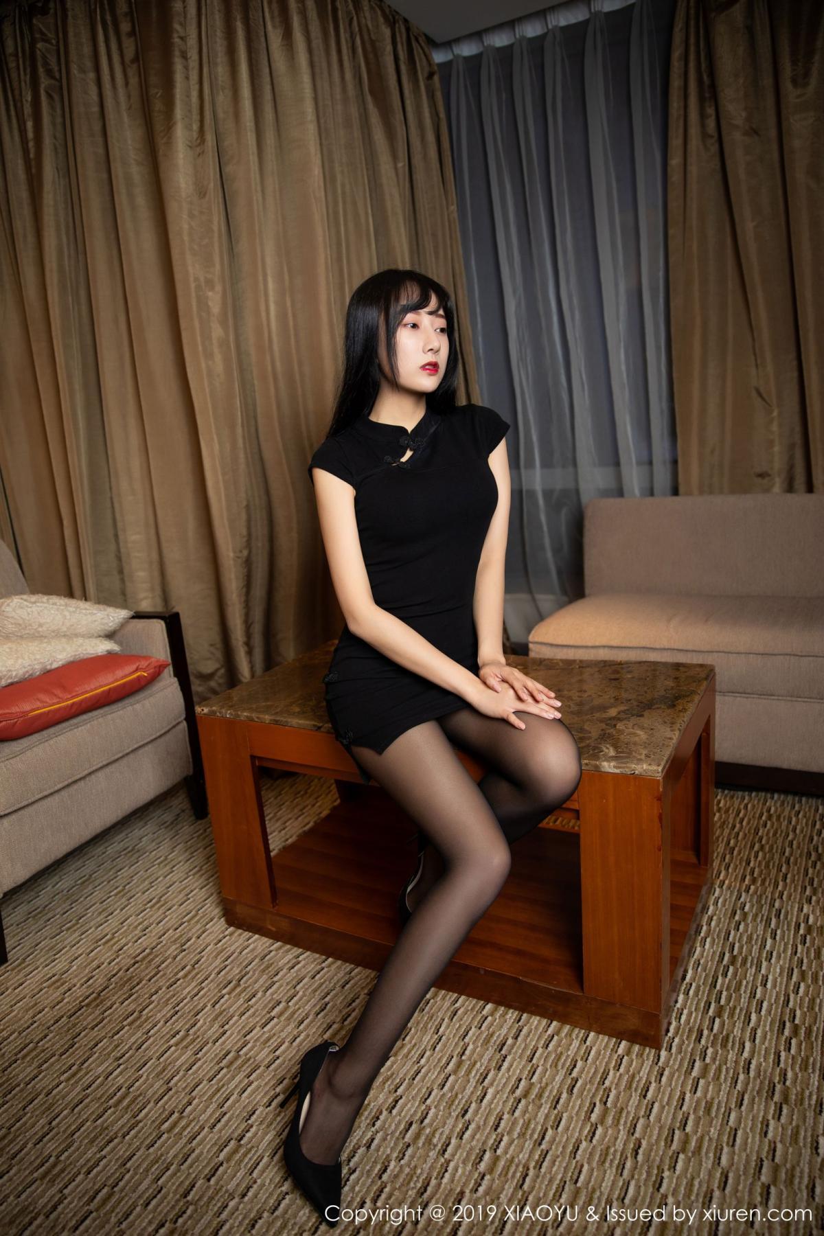 [XiaoYu] Vol.145 He Jia Ying 1P, Black Silk, He Jia Ying, Underwear, XiaoYu