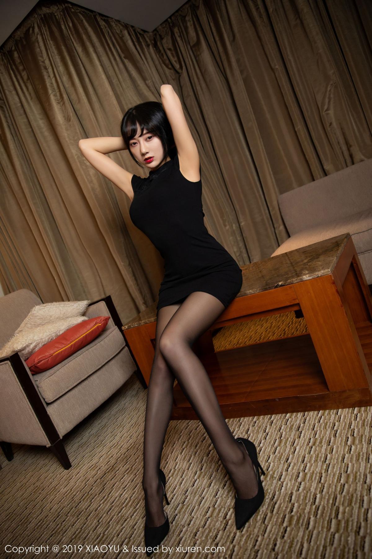 [XiaoYu] Vol.145 He Jia Ying 2P, Black Silk, He Jia Ying, Underwear, XiaoYu