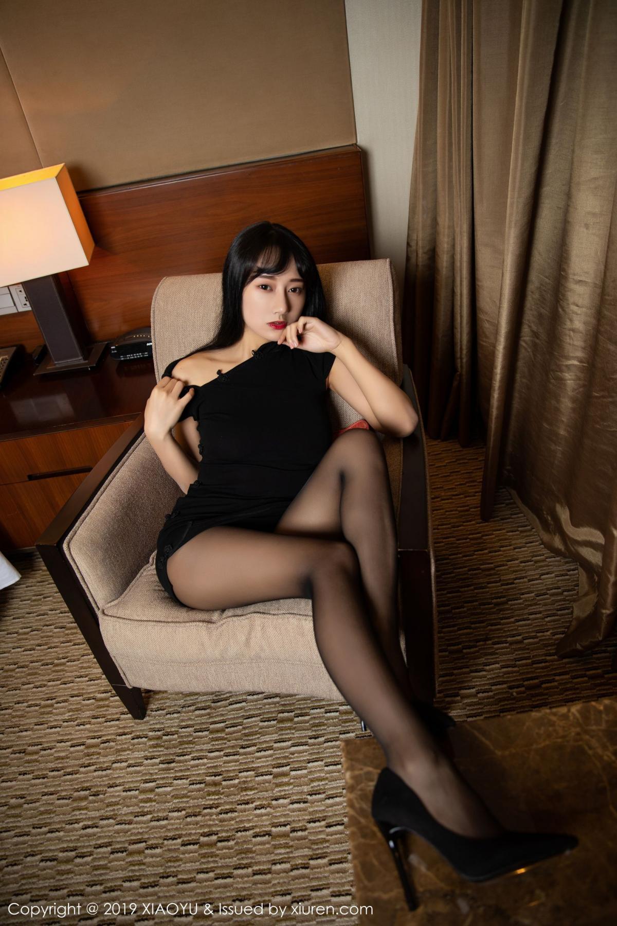 [XiaoYu] Vol.145 He Jia Ying 39P, Black Silk, He Jia Ying, Underwear, XiaoYu