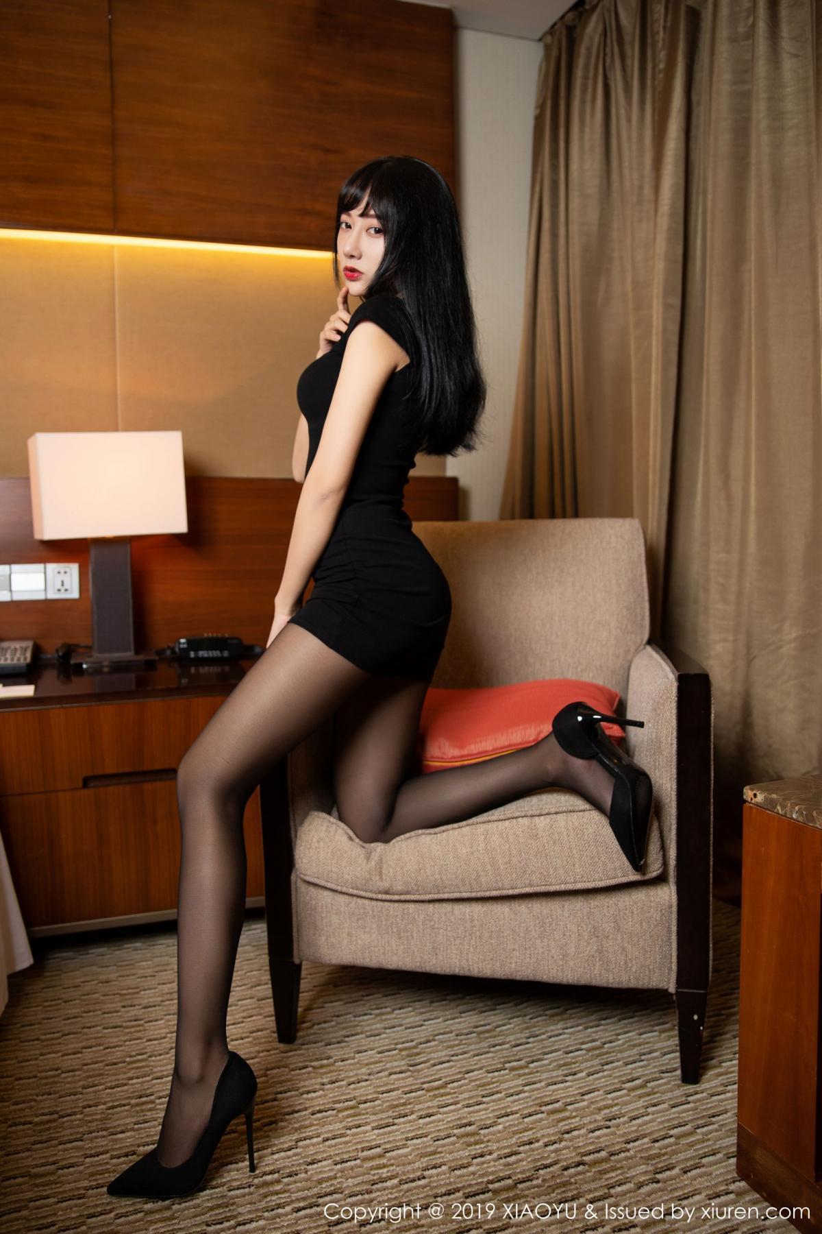[XiaoYu] Vol.145 He Jia Ying 4P, Black Silk, He Jia Ying, Underwear, XiaoYu
