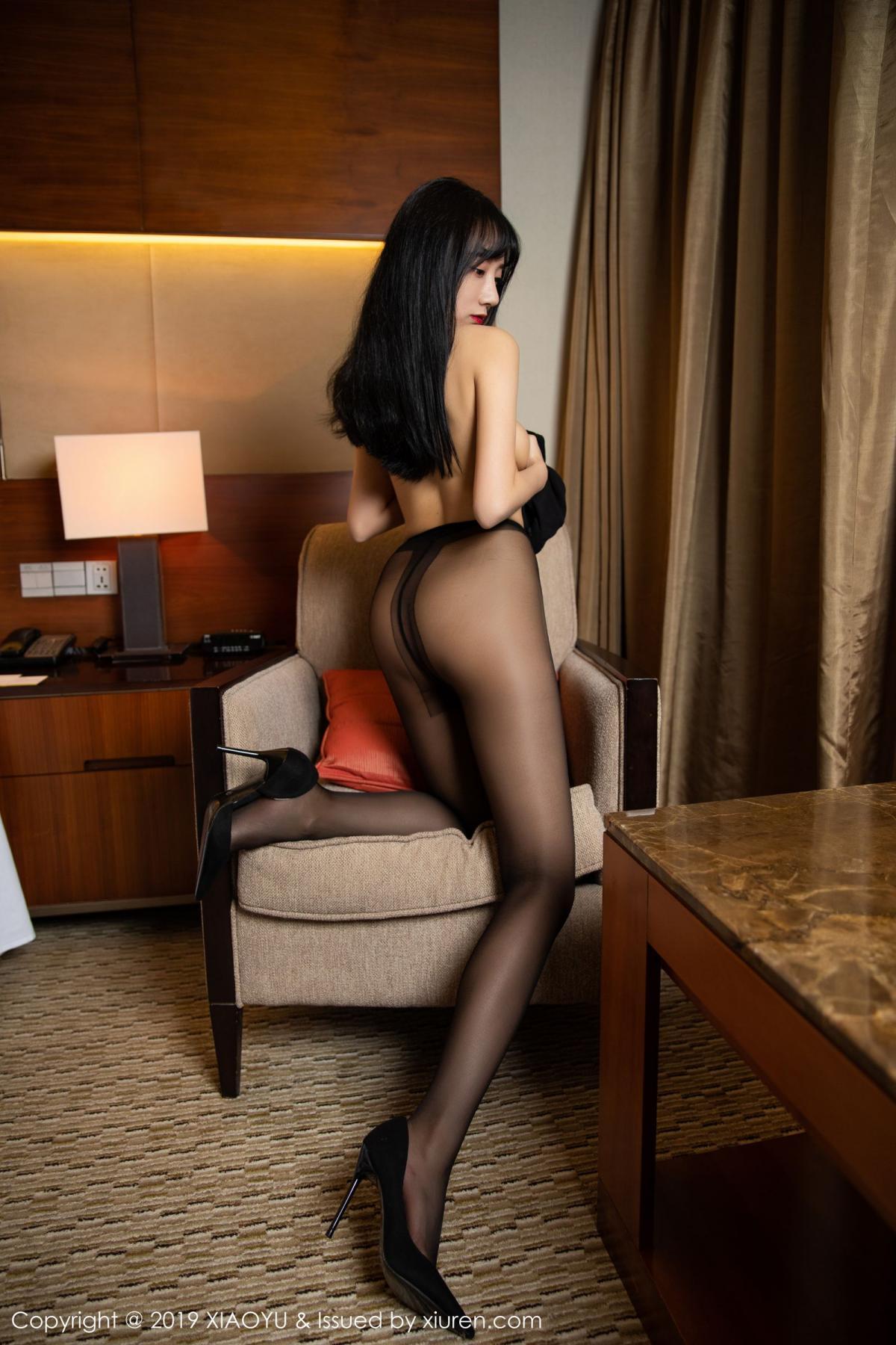 [XiaoYu] Vol.145 He Jia Ying 53P, Black Silk, He Jia Ying, Underwear, XiaoYu