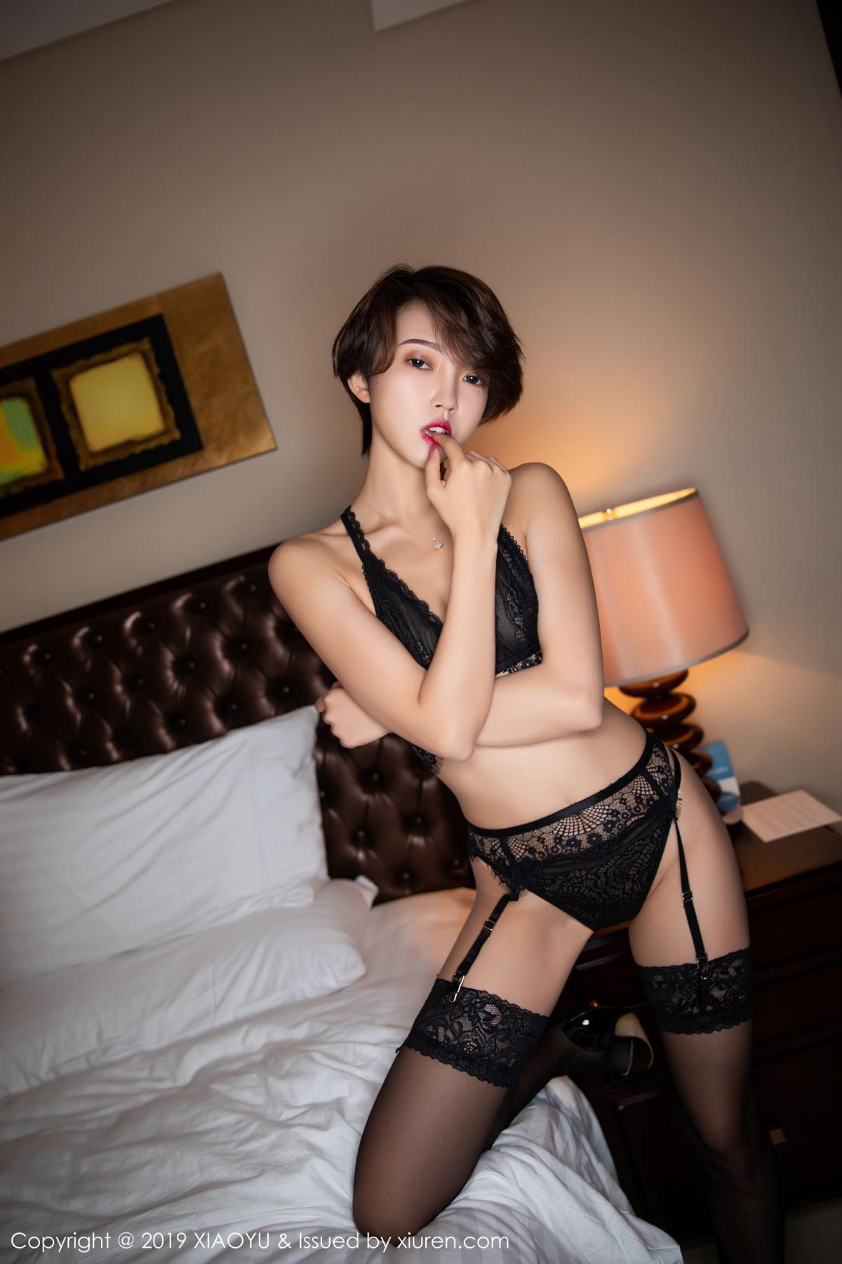 [XiaoYu] Vol.146 Feng Mu Mu 14P, Black Silk, Feng Mu Mu, Tall, Underwear, XiaoYu
