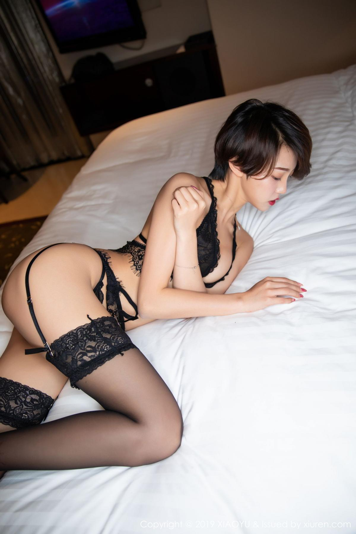 [XiaoYu] Vol.146 Feng Mu Mu 24P, Black Silk, Feng Mu Mu, Tall, Underwear, XiaoYu