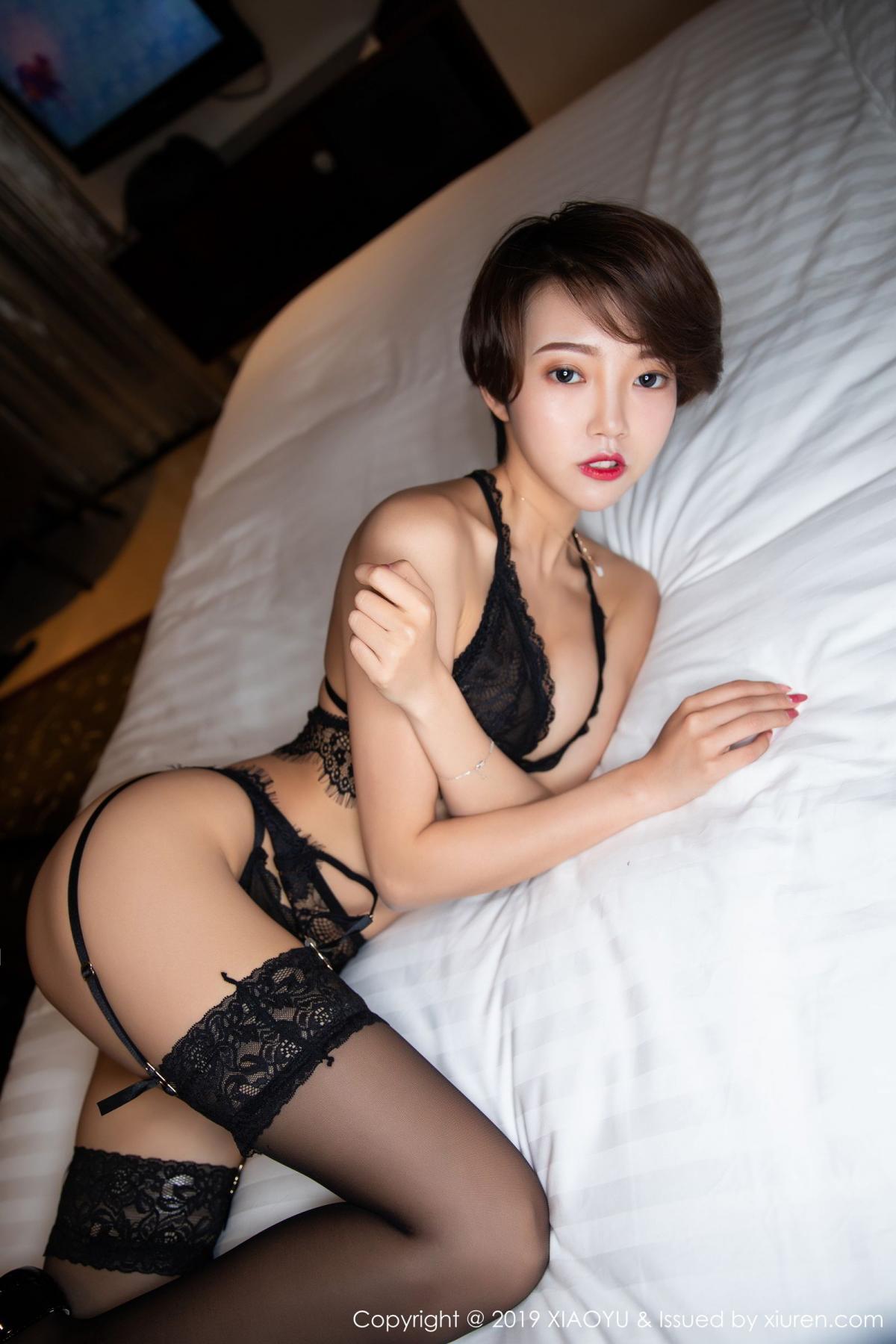 [XiaoYu] Vol.146 Feng Mu Mu 25P, Black Silk, Feng Mu Mu, Tall, Underwear, XiaoYu