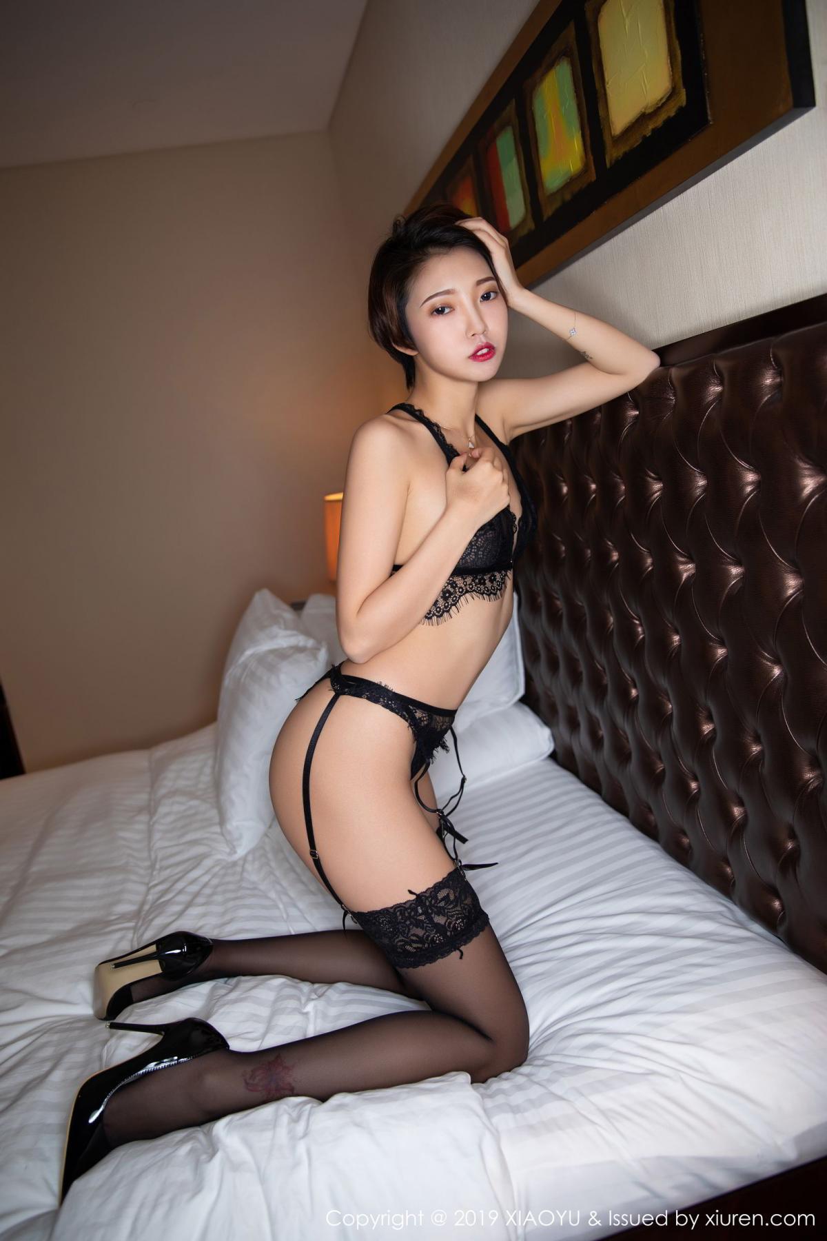 [XiaoYu] Vol.146 Feng Mu Mu 35P, Black Silk, Feng Mu Mu, Tall, Underwear, XiaoYu