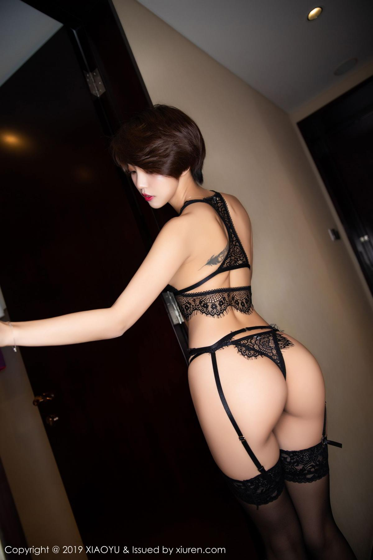 [XiaoYu] Vol.146 Feng Mu Mu 51P, Black Silk, Feng Mu Mu, Tall, Underwear, XiaoYu
