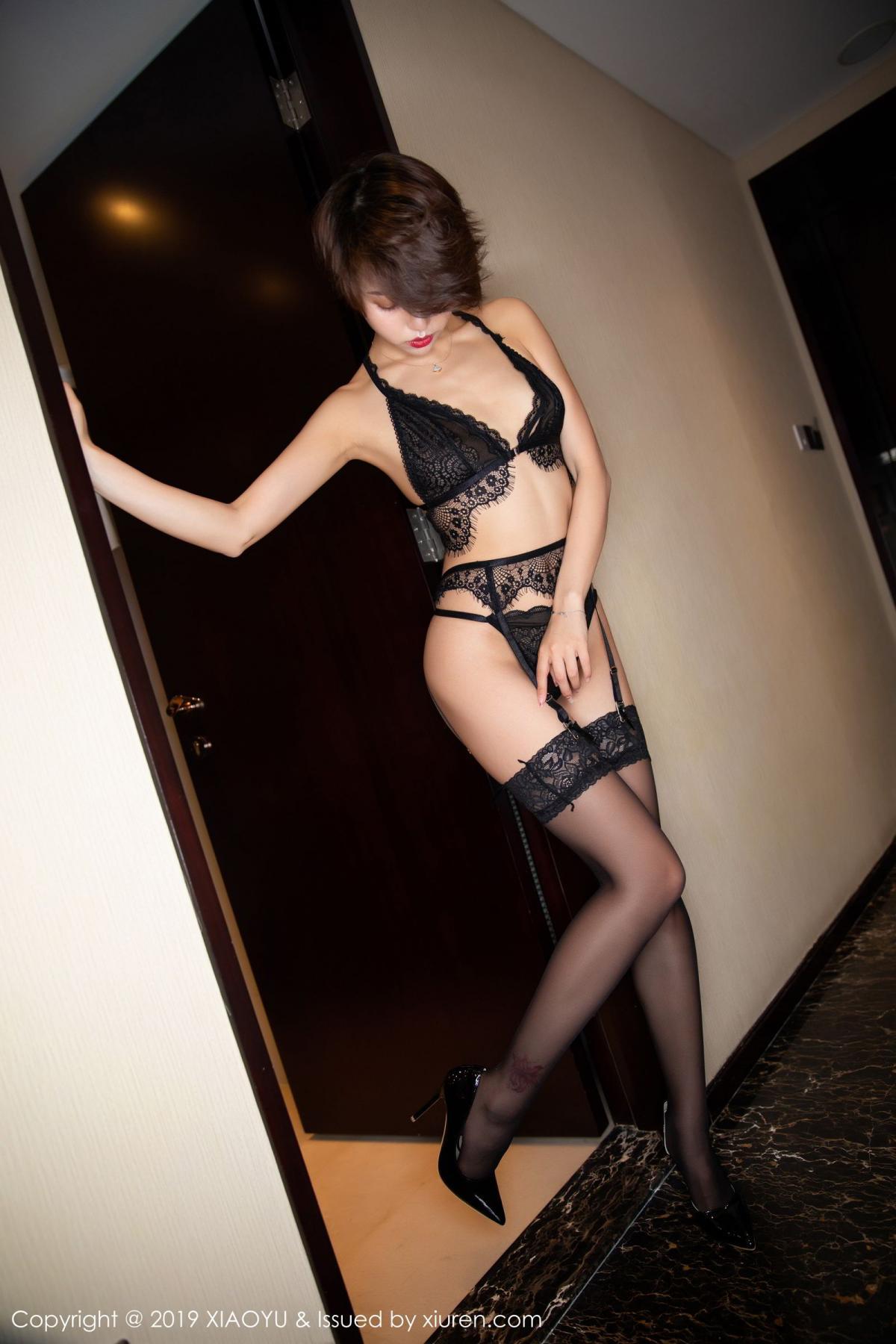 [XiaoYu] Vol.146 Feng Mu Mu 56P, Black Silk, Feng Mu Mu, Tall, Underwear, XiaoYu