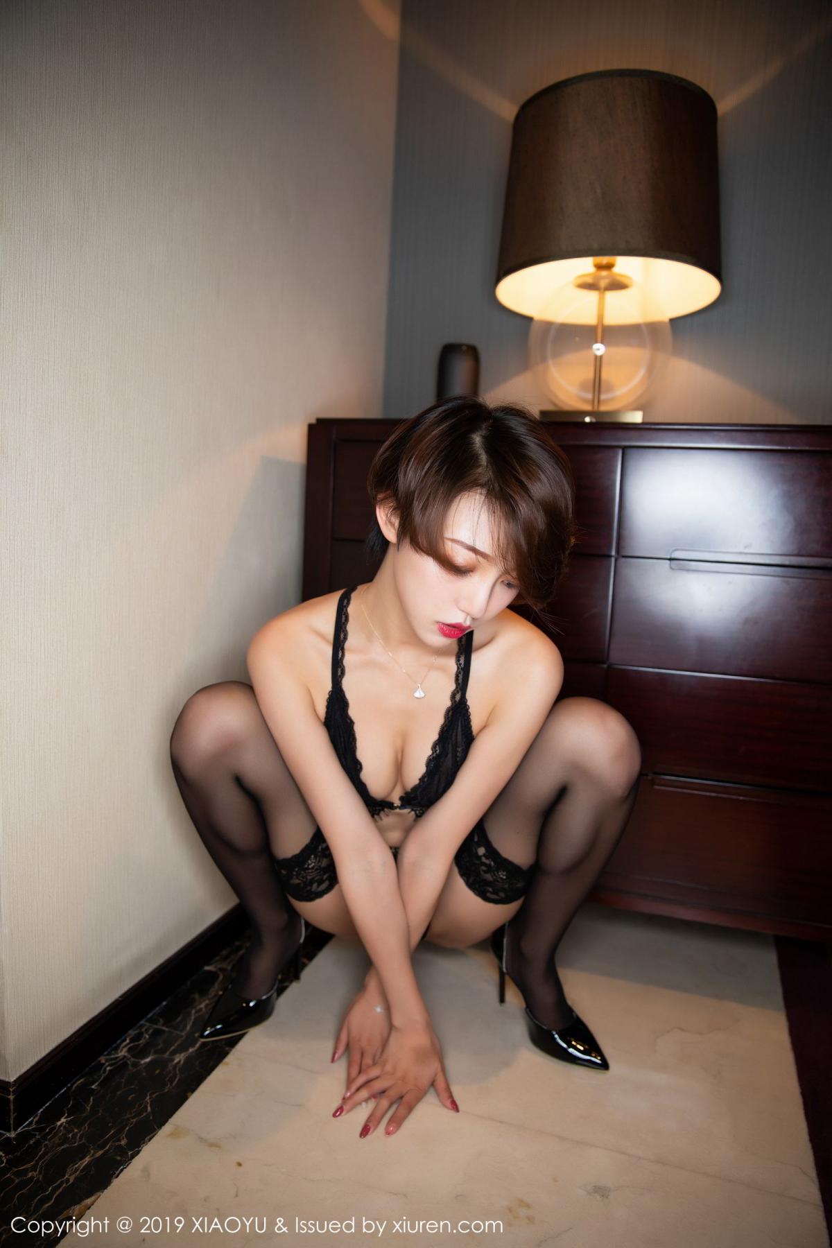 [XiaoYu] Vol.146 Feng Mu Mu 65P, Black Silk, Feng Mu Mu, Tall, Underwear, XiaoYu