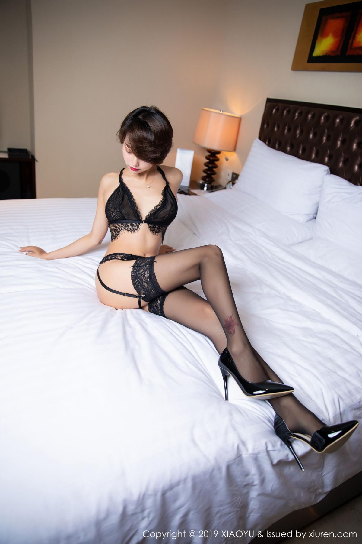 [XiaoYu] Vol.146 Feng Mu Mu 73P, Black Silk, Feng Mu Mu, Tall, Underwear, XiaoYu
