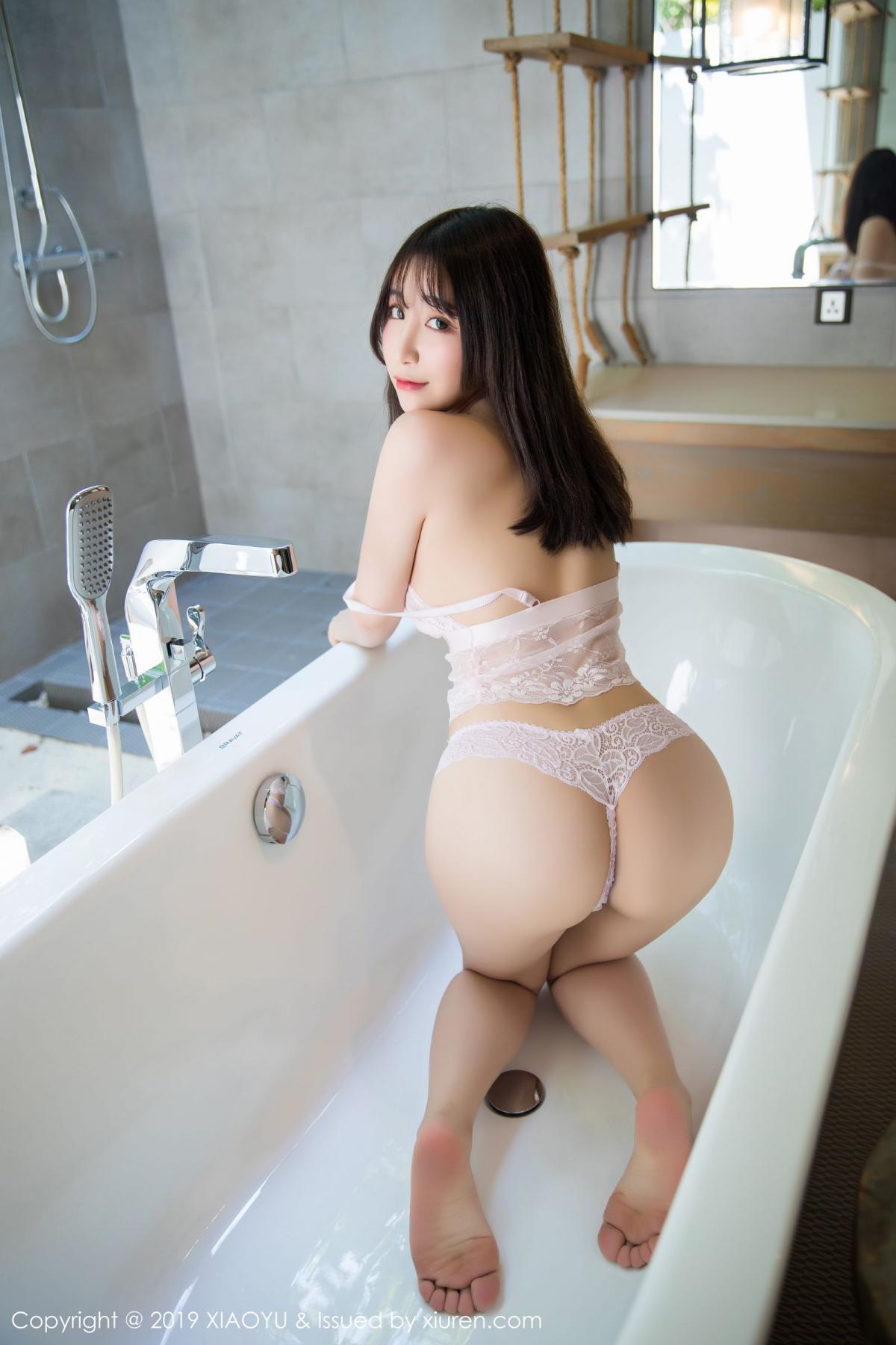 [XiaoYu] Vol.147 Xie Zhi Xin 50P, Bathroom, Big Booty, Wet, XiaoYu, Xie Zhi Xin
