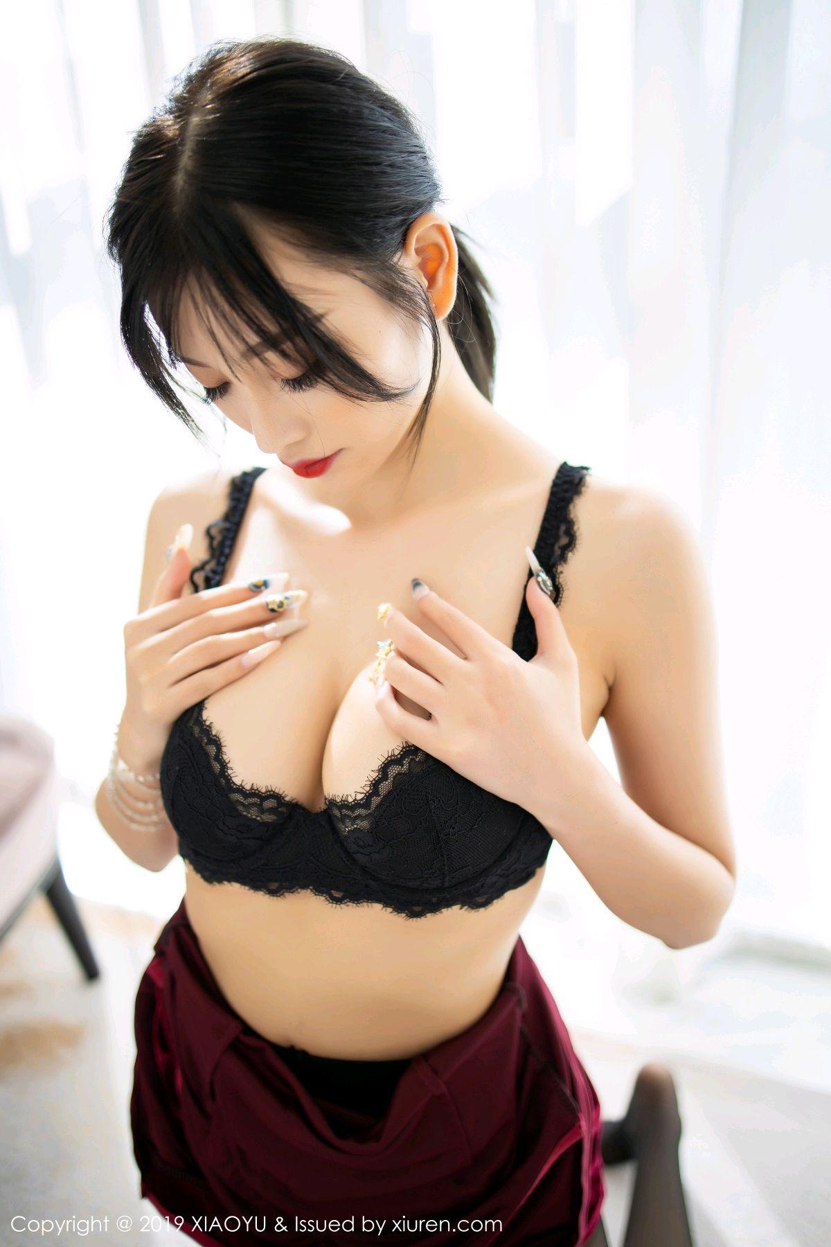 [XiaoYu] Vol.152 Yang Chen Chen 55P, Black Silk, Cheongsam, Tall, XiaoYu, Yang Chen Chen