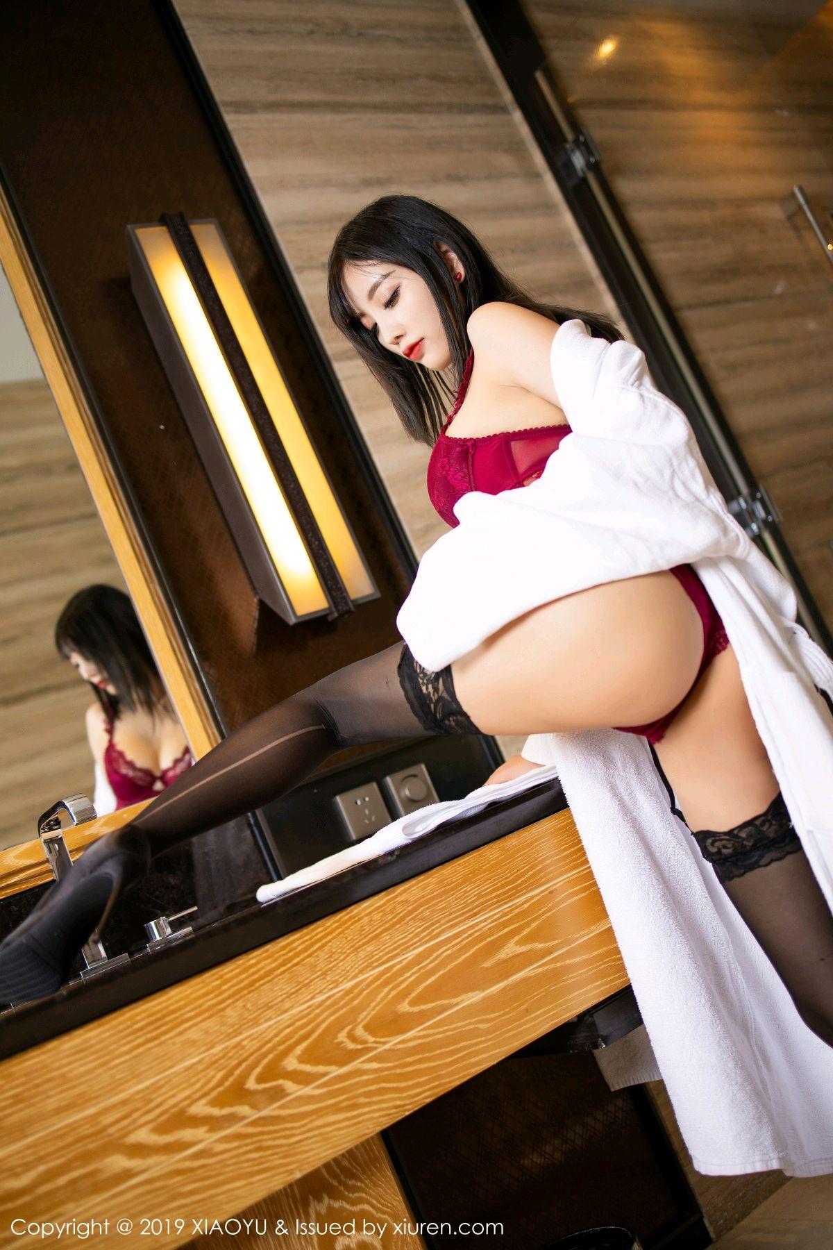 [XiaoYu] Vol.153 Yang Chen Chen 20P, Bathroom, Black Silk, Underwear, XiaoYu, Yang Chen Chen