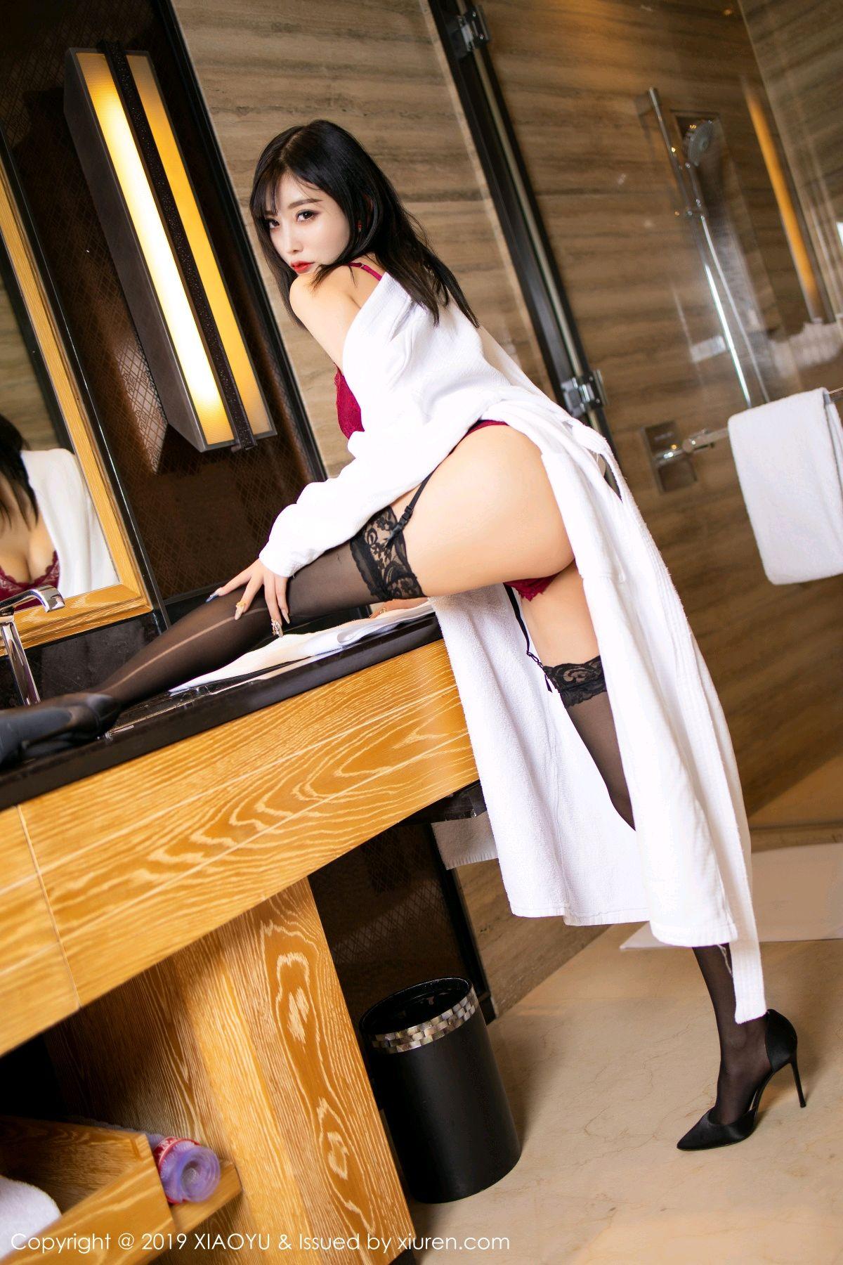 [XiaoYu] Vol.153 Yang Chen Chen 21P, Bathroom, Black Silk, Underwear, XiaoYu, Yang Chen Chen