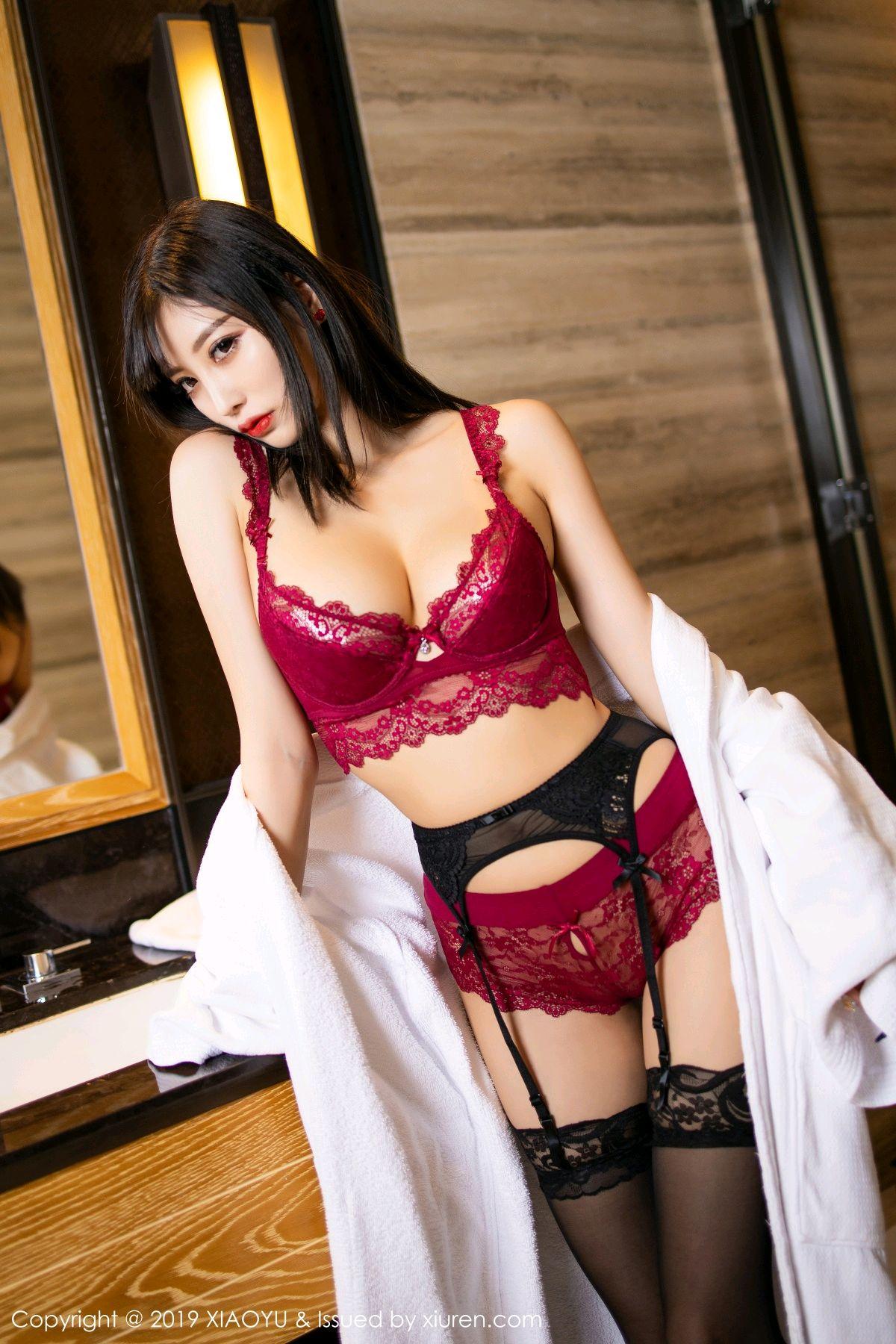 [XiaoYu] Vol.153 Yang Chen Chen 32P, Bathroom, Black Silk, Underwear, XiaoYu, Yang Chen Chen