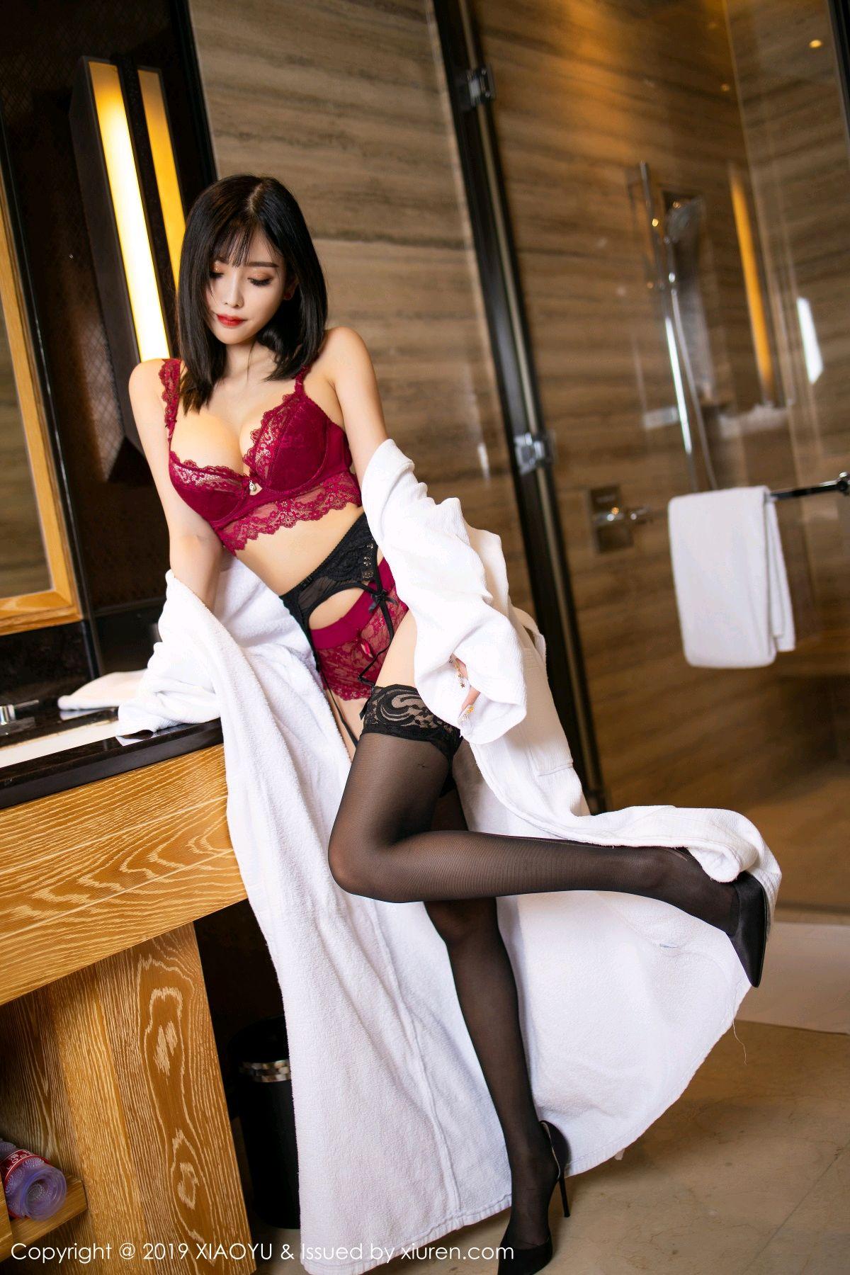 [XiaoYu] Vol.153 Yang Chen Chen 33P, Bathroom, Black Silk, Underwear, XiaoYu, Yang Chen Chen