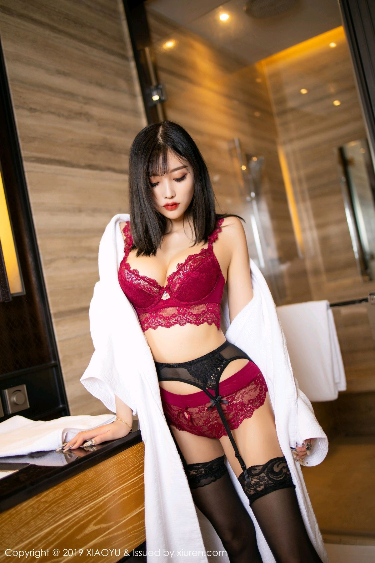 [XiaoYu] Vol.153 Yang Chen Chen 36P, Bathroom, Black Silk, Underwear, XiaoYu, Yang Chen Chen