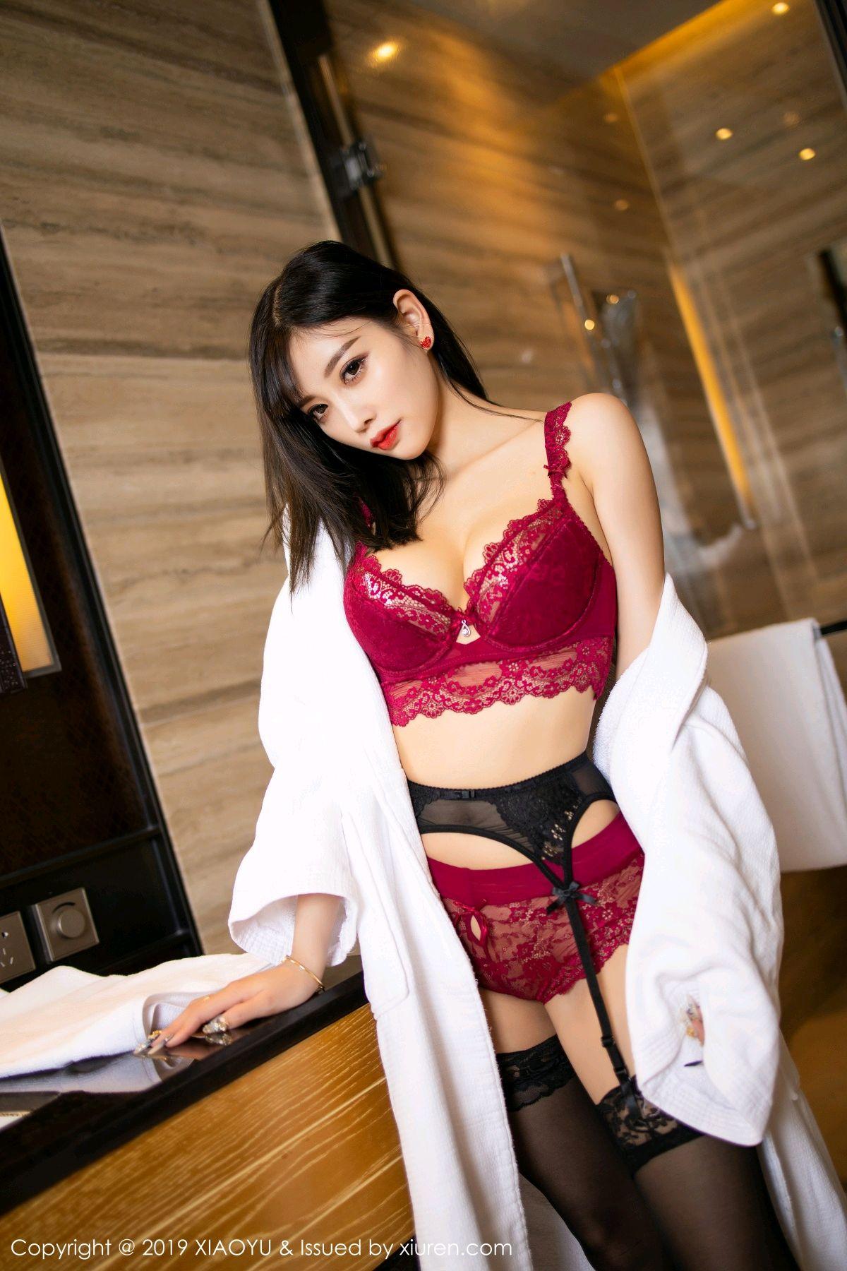 [XiaoYu] Vol.153 Yang Chen Chen 37P, Bathroom, Black Silk, Underwear, XiaoYu, Yang Chen Chen