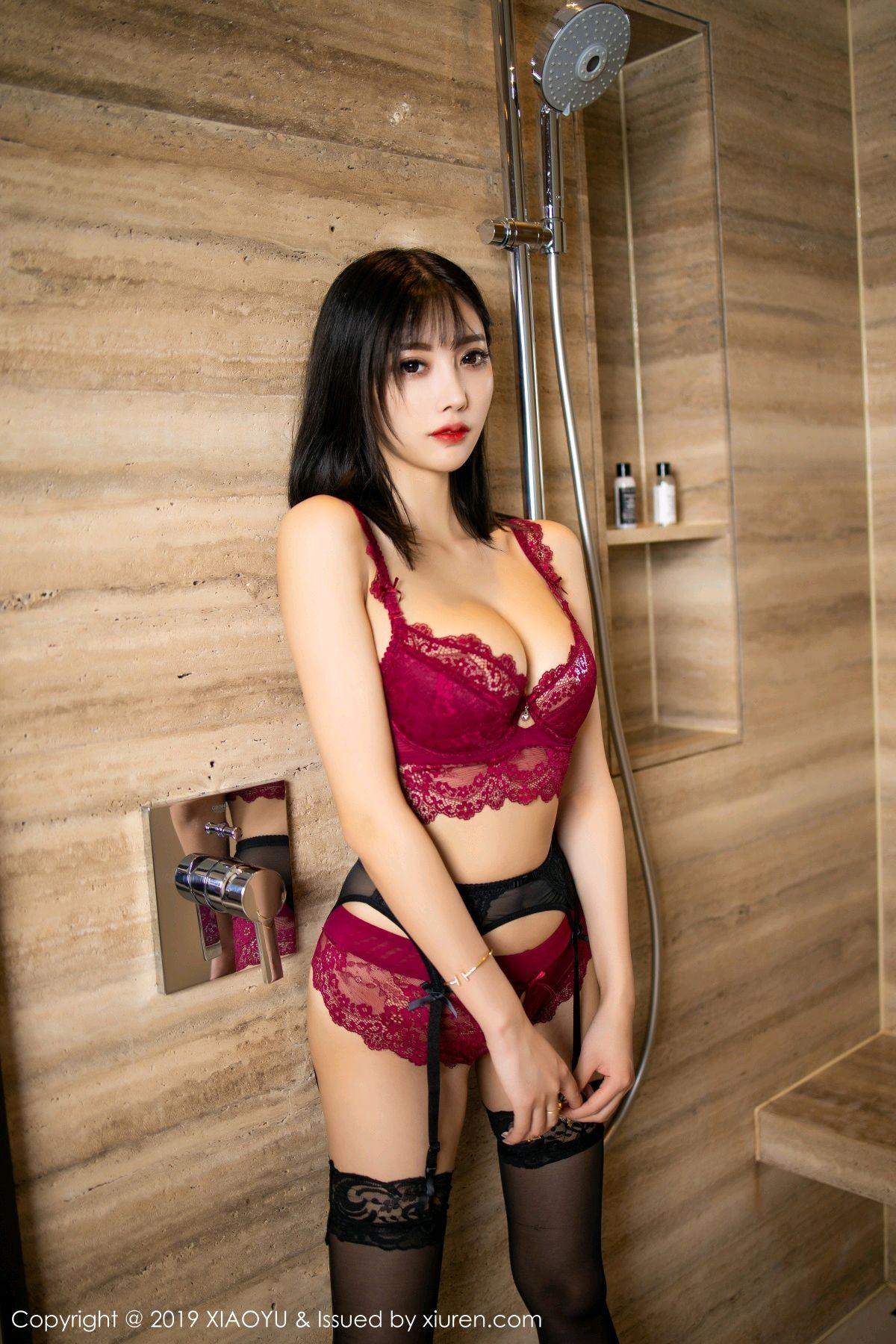 [XiaoYu] Vol.153 Yang Chen Chen 48P, Bathroom, Black Silk, Underwear, XiaoYu, Yang Chen Chen