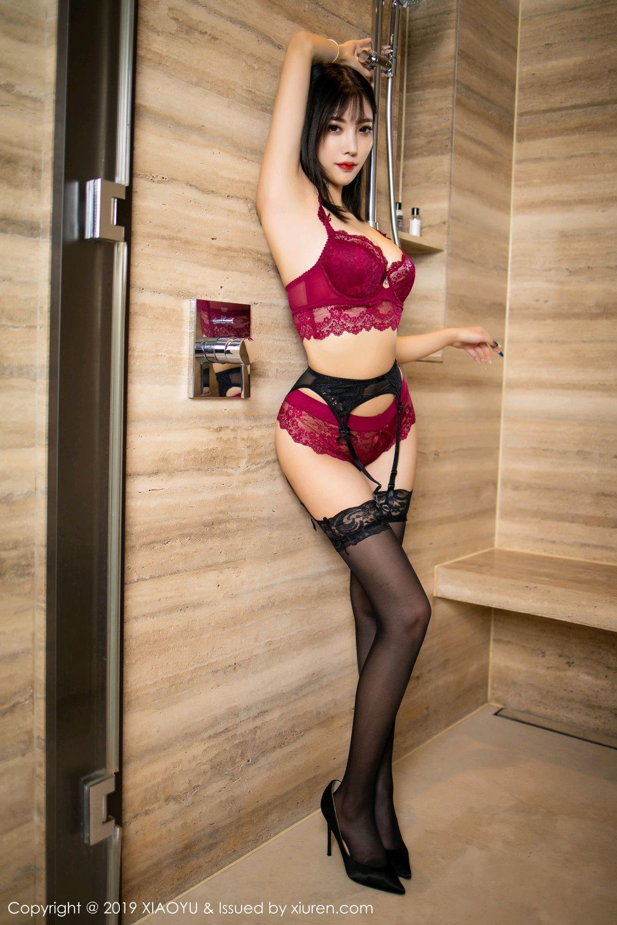 [XiaoYu] Vol.153 Yang Chen Chen 51P, Bathroom, Black Silk, Underwear, XiaoYu, Yang Chen Chen