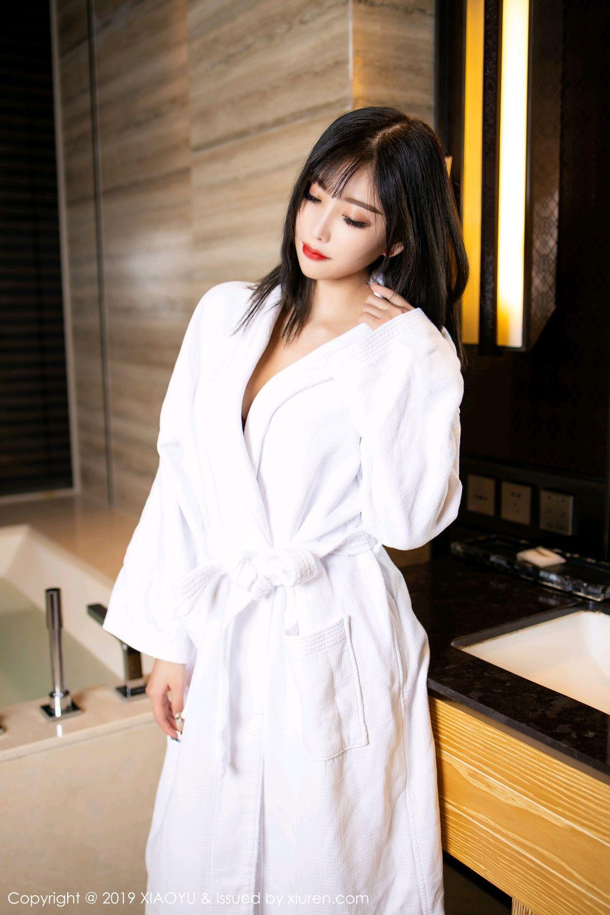 [XiaoYu] Vol.153 Yang Chen Chen 6P, Bathroom, Black Silk, Underwear, XiaoYu, Yang Chen Chen