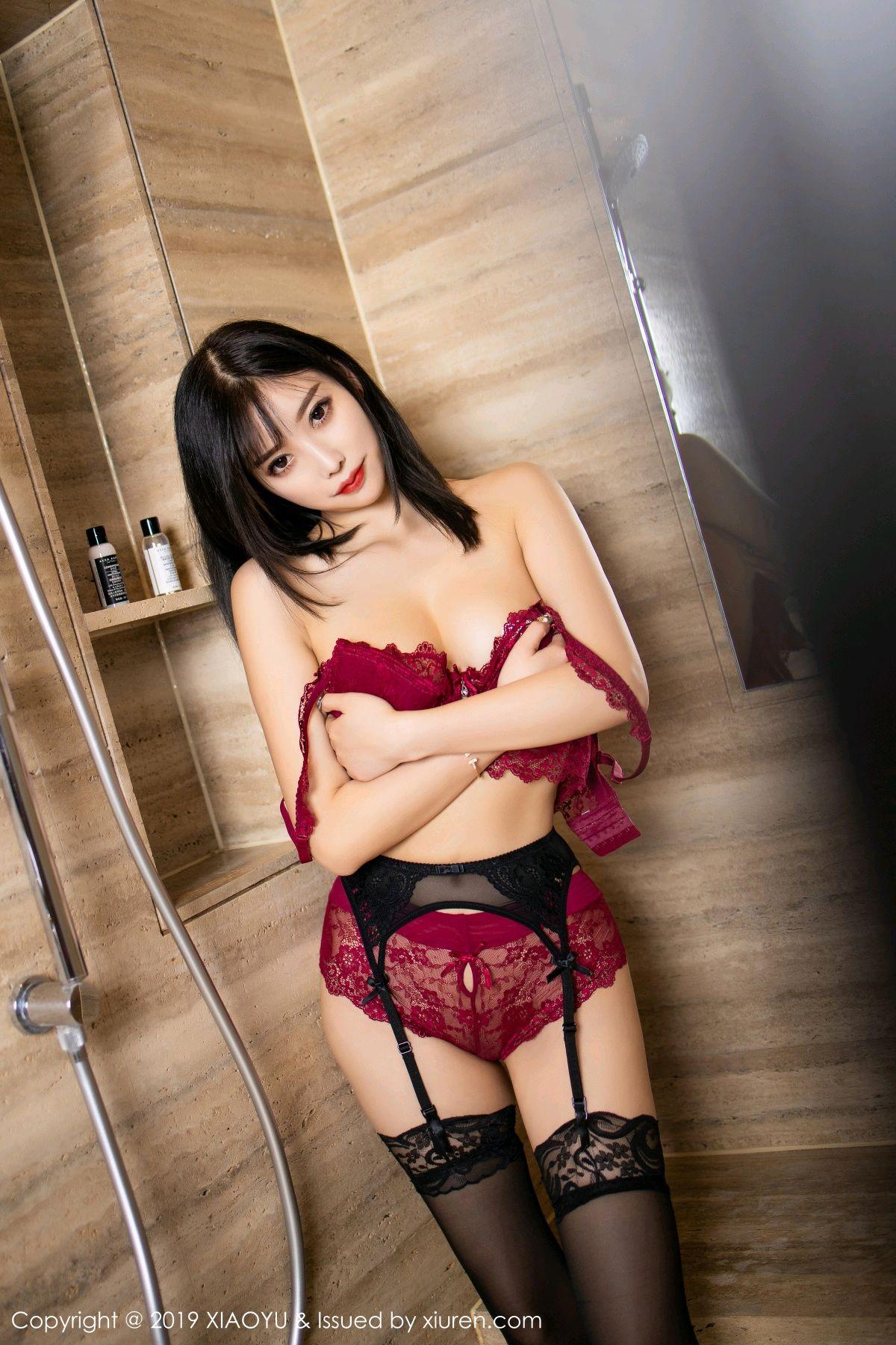 [XiaoYu] Vol.153 Yang Chen Chen 73P, Bathroom, Black Silk, Underwear, XiaoYu, Yang Chen Chen