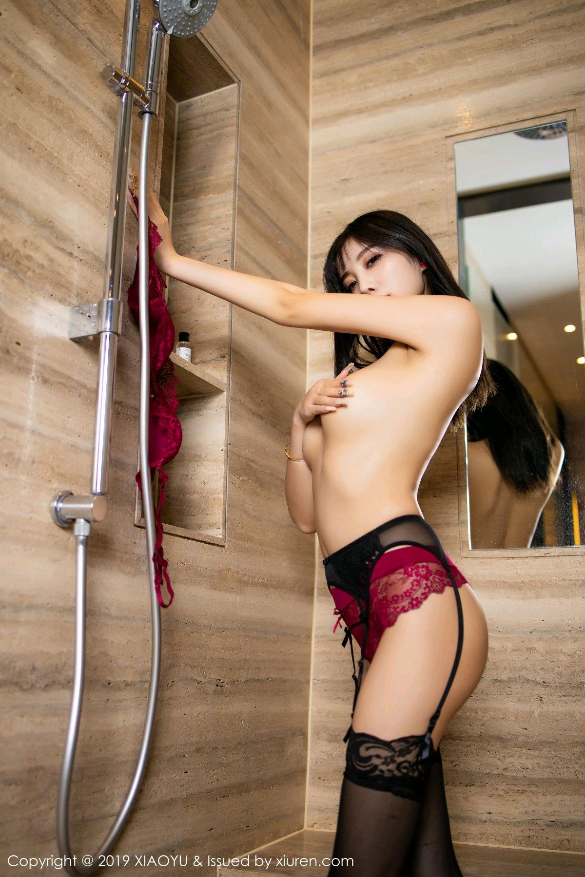 [XiaoYu] Vol.153 Yang Chen Chen 76P, Bathroom, Black Silk, Underwear, XiaoYu, Yang Chen Chen