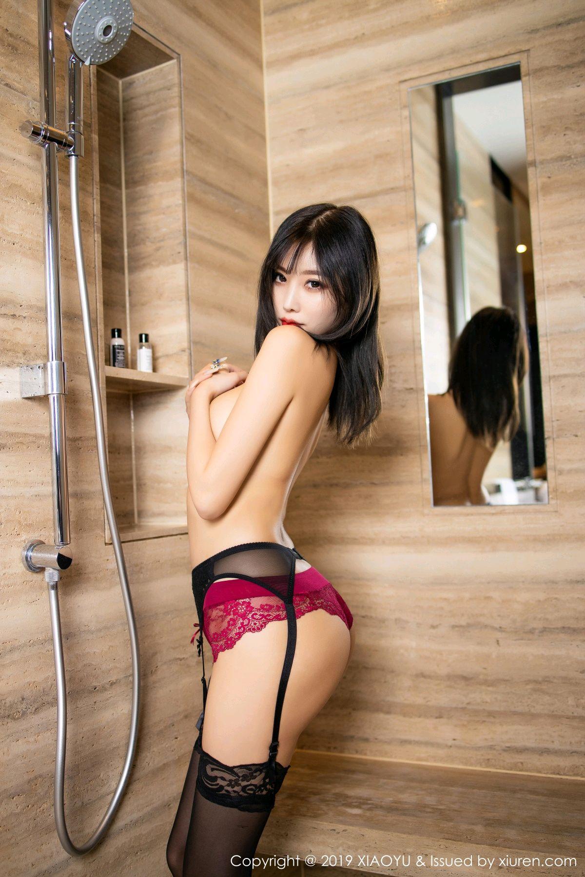 [XiaoYu] Vol.153 Yang Chen Chen 78P, Bathroom, Black Silk, Underwear, XiaoYu, Yang Chen Chen