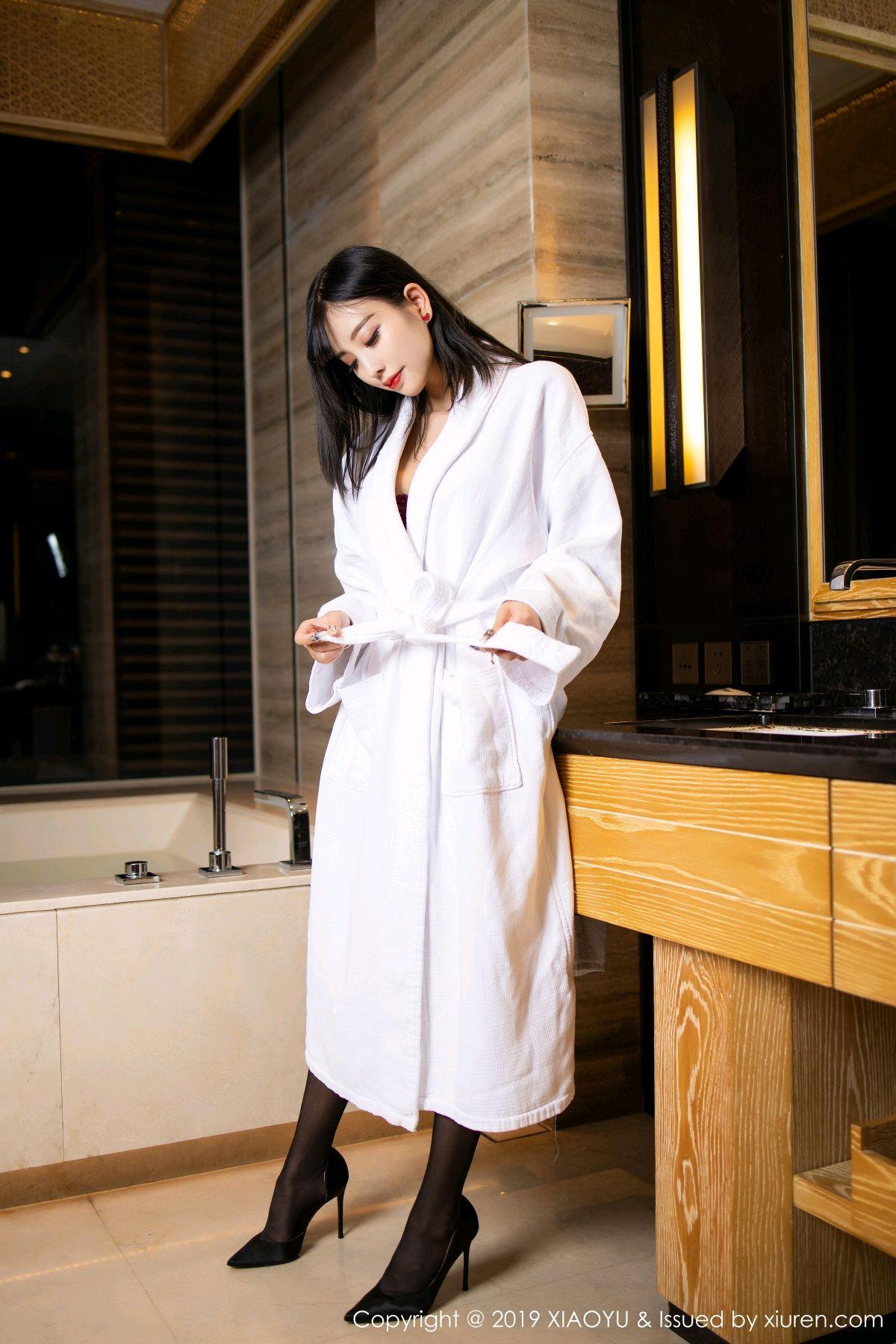 [XiaoYu] Vol.153 Yang Chen Chen 7P, Bathroom, Black Silk, Underwear, XiaoYu, Yang Chen Chen