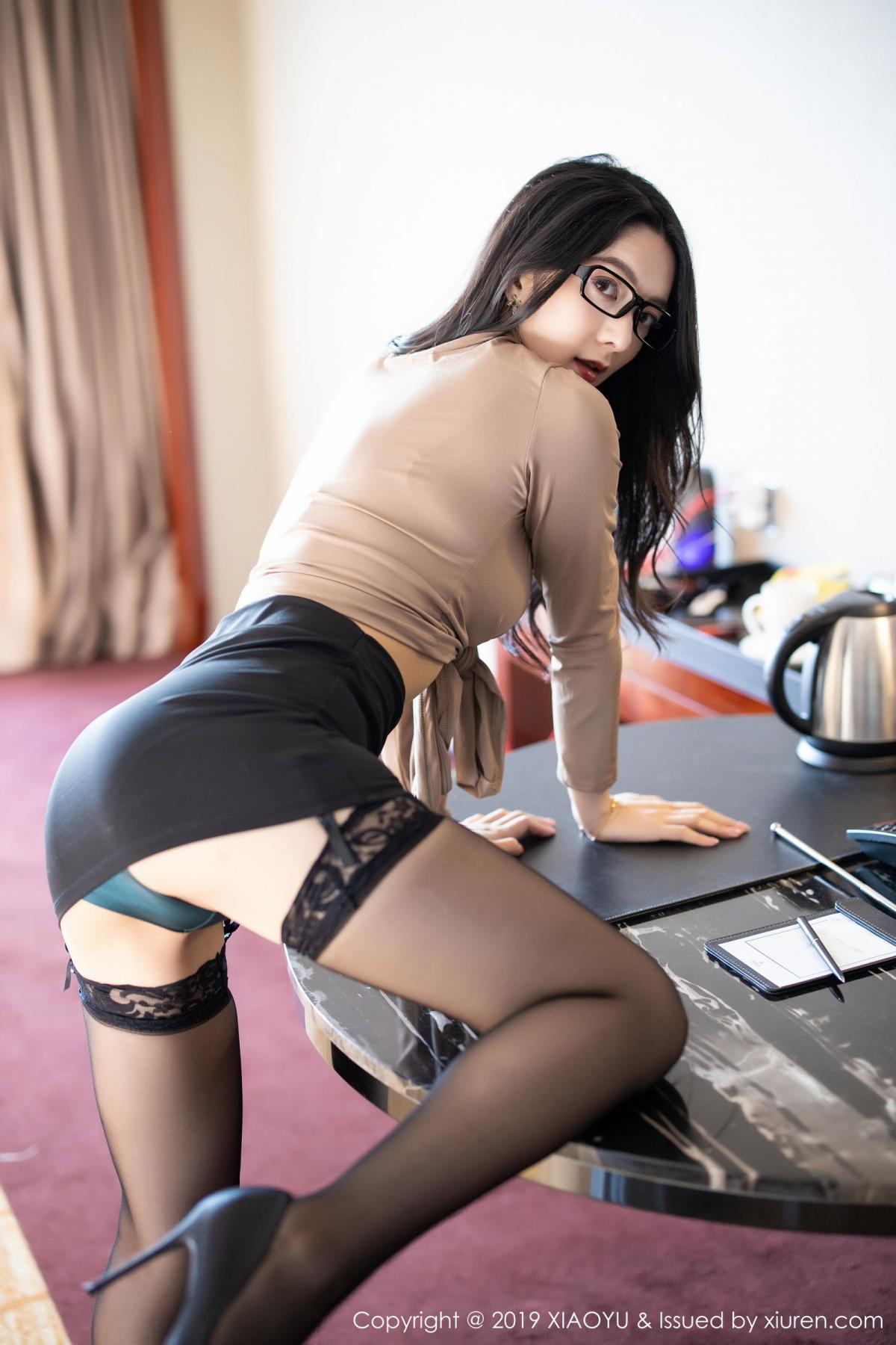 [XiaoYu] Vol.154 Di Yi 19P, Black Silk, Di Yi, Underwear, XiaoYu