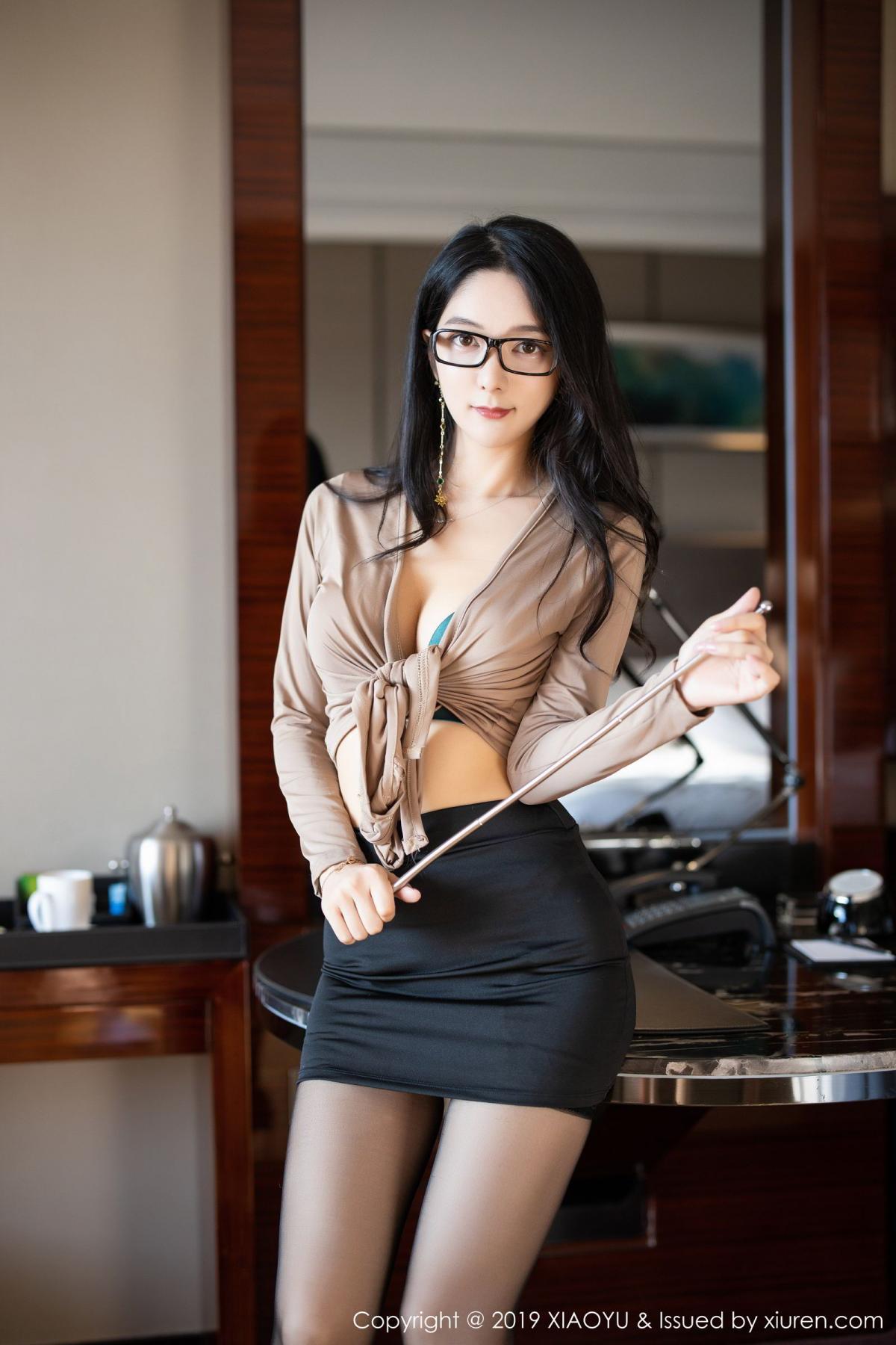 [XiaoYu] Vol.154 Di Yi 1P, Black Silk, Di Yi, Underwear, XiaoYu