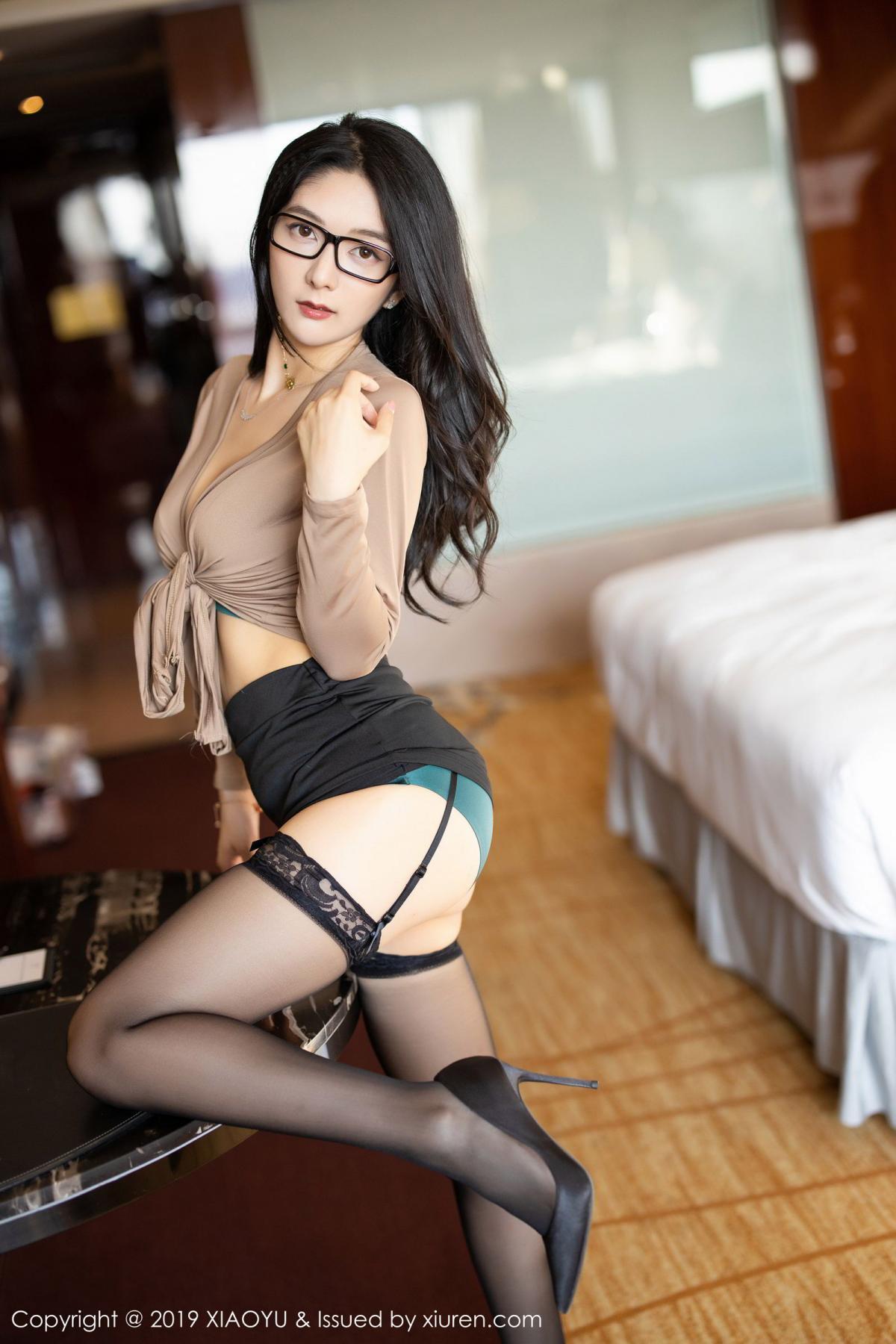 [XiaoYu] Vol.154 Di Yi 22P, Black Silk, Di Yi, Underwear, XiaoYu