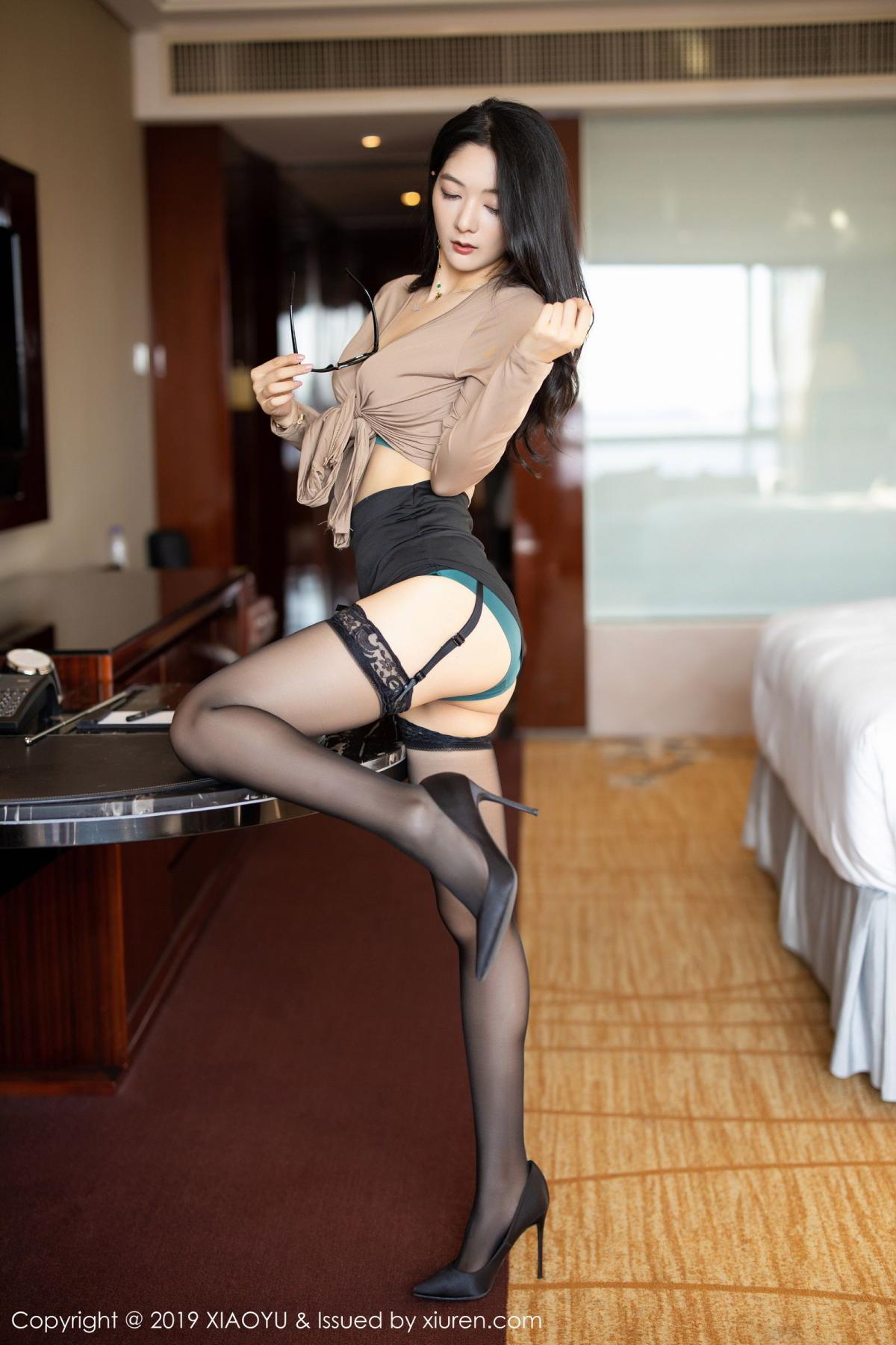 [XiaoYu] Vol.154 Di Yi 25P, Black Silk, Di Yi, Underwear, XiaoYu