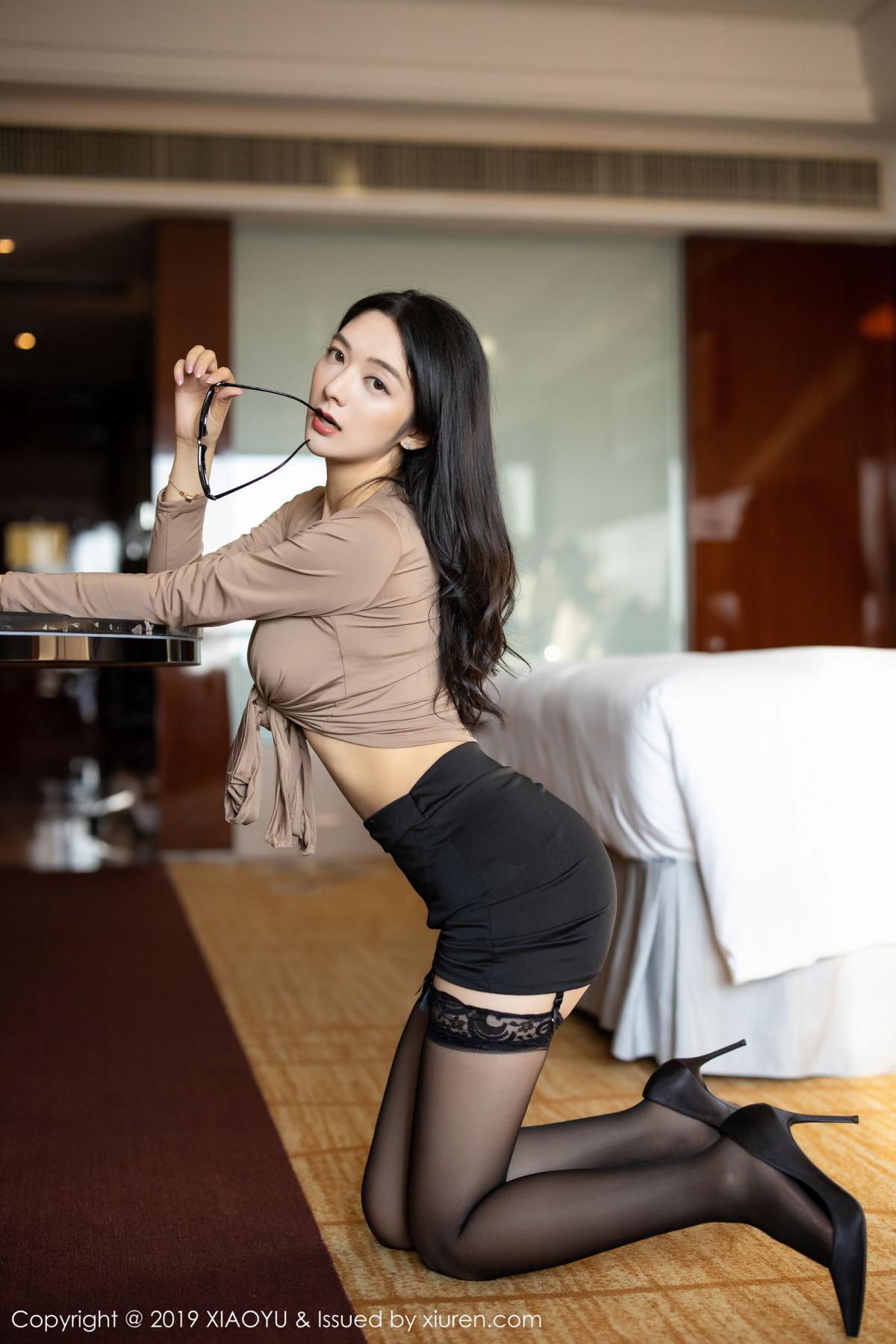 [XiaoYu] Vol.154 Di Yi 29P, Black Silk, Di Yi, Underwear, XiaoYu