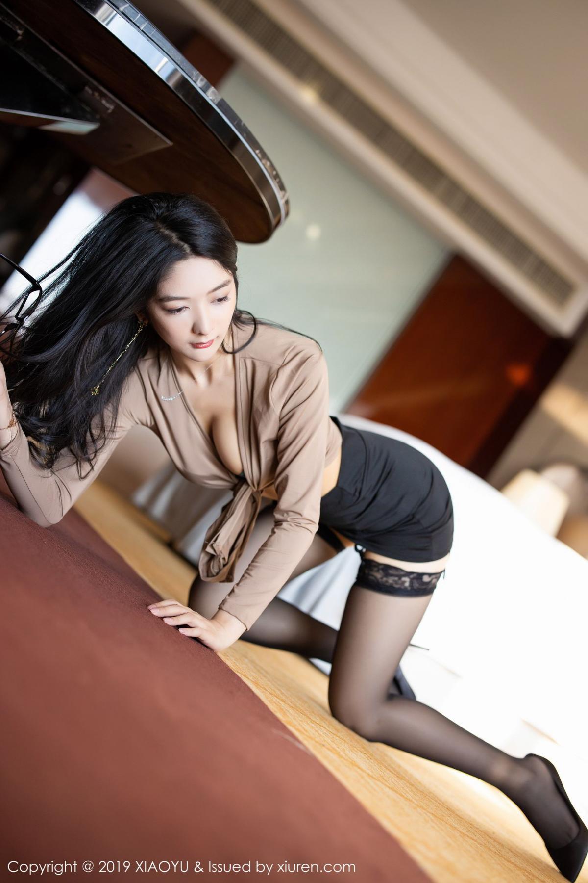 [XiaoYu] Vol.154 Di Yi 35P, Black Silk, Di Yi, Underwear, XiaoYu