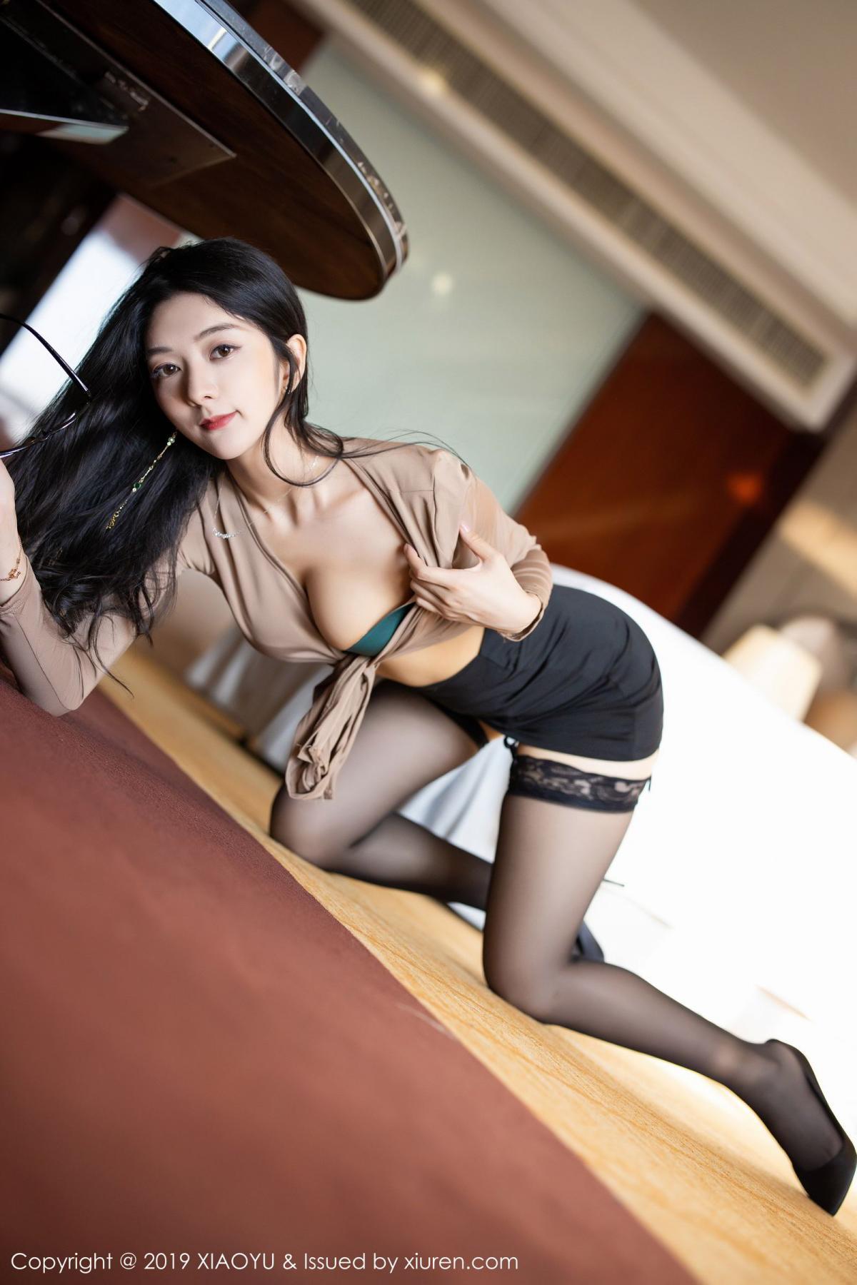 [XiaoYu] Vol.154 Di Yi 36P, Black Silk, Di Yi, Underwear, XiaoYu