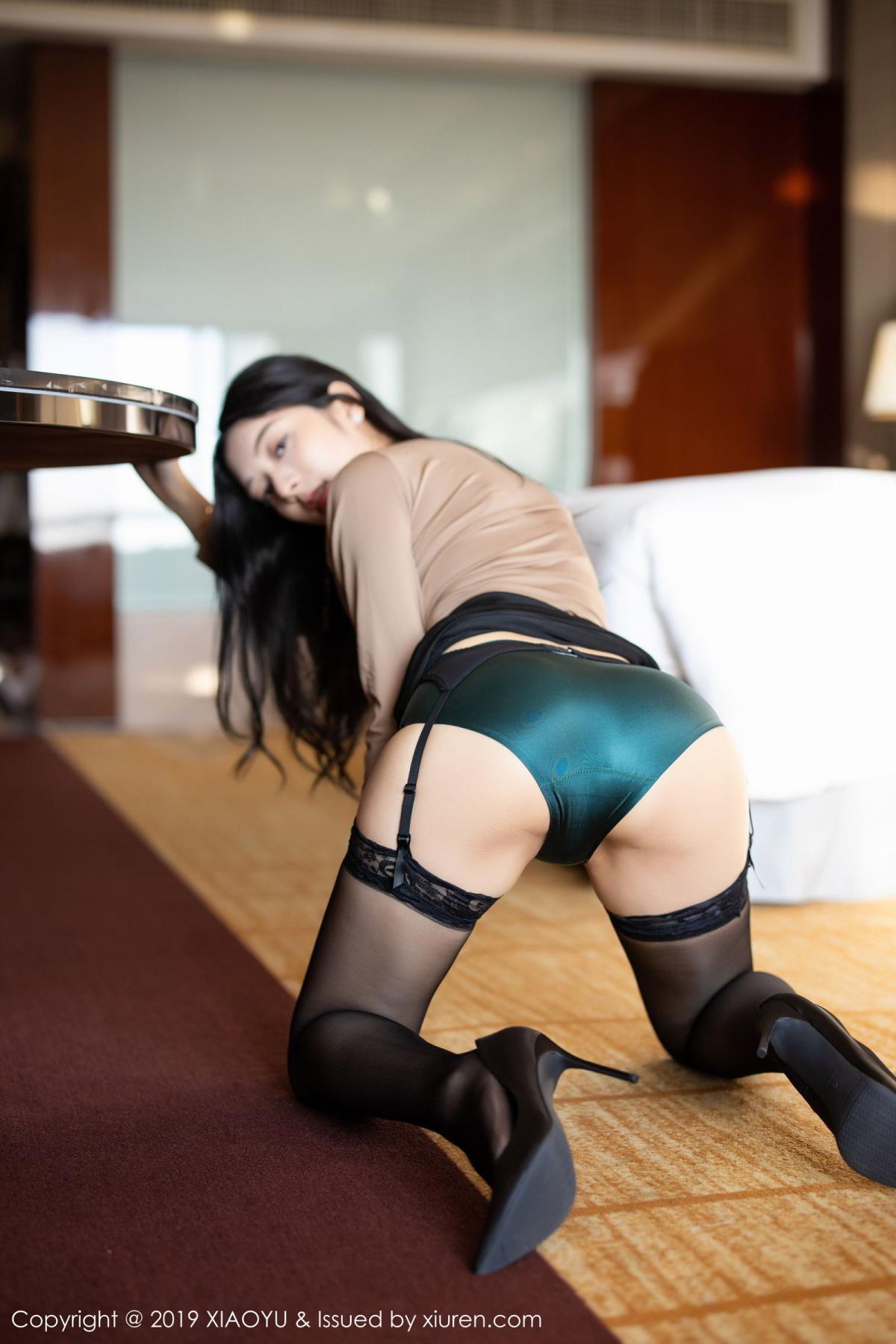 [XiaoYu] Vol.154 Di Yi 40P, Black Silk, Di Yi, Underwear, XiaoYu