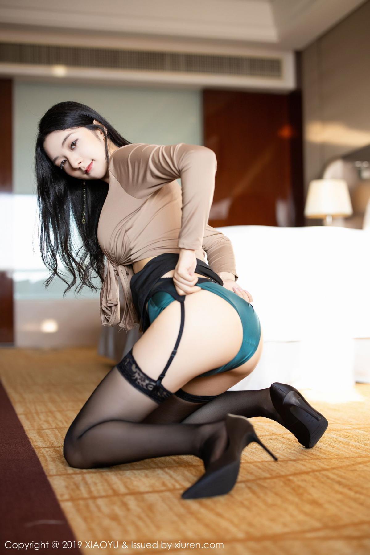 [XiaoYu] Vol.154 Di Yi 41P, Black Silk, Di Yi, Underwear, XiaoYu