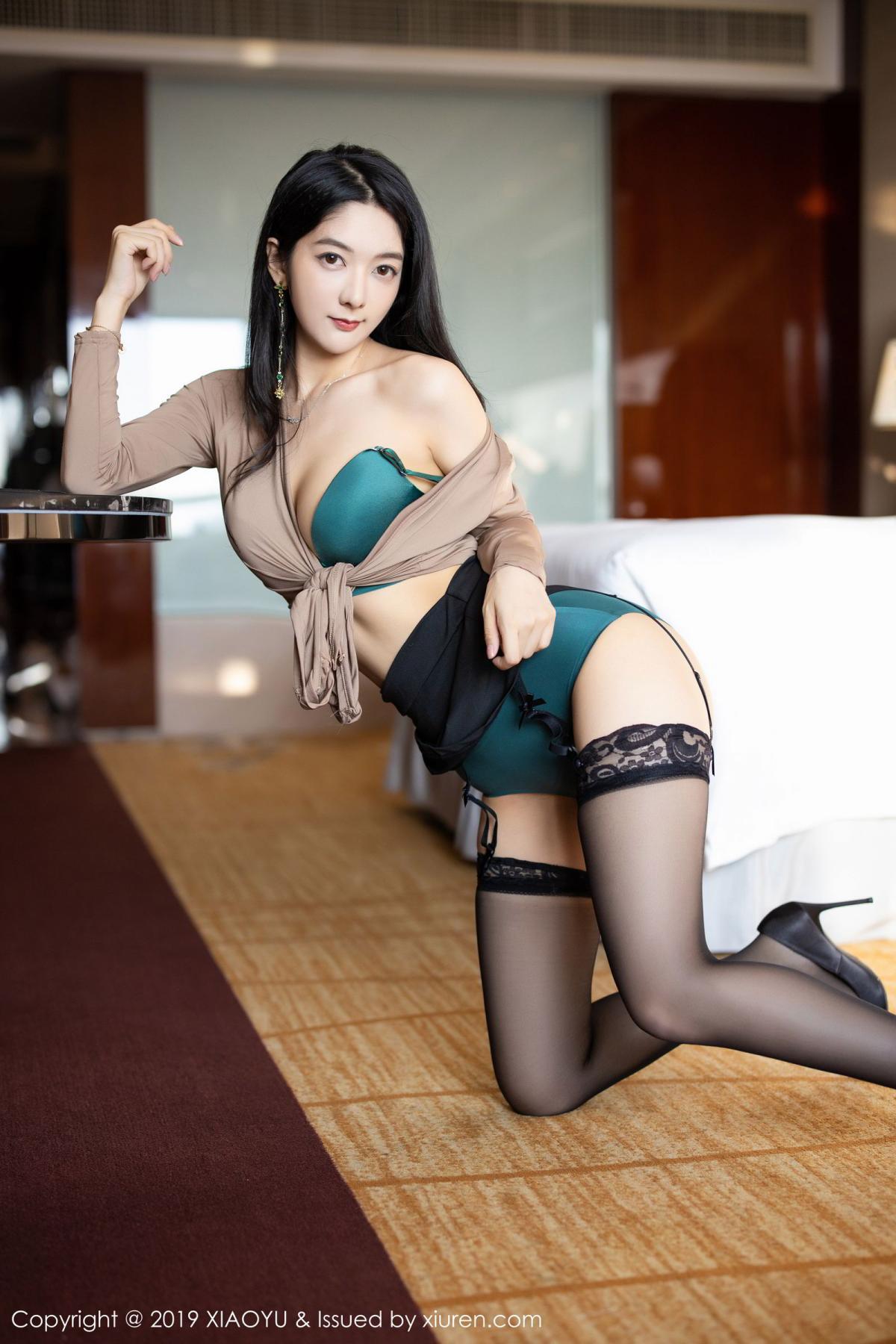 [XiaoYu] Vol.154 Di Yi 42P, Black Silk, Di Yi, Underwear, XiaoYu
