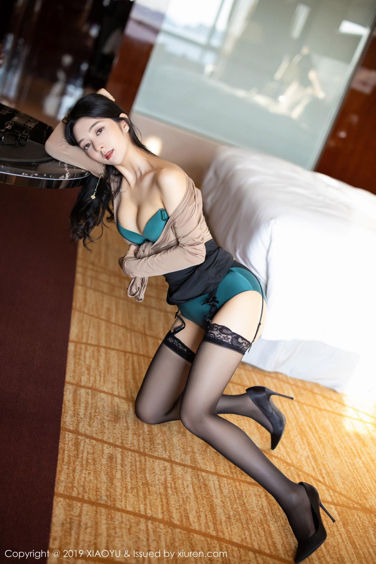 [XiaoYu] Vol.154 Di Yi 45P, Black Silk, Di Yi, Underwear, XiaoYu