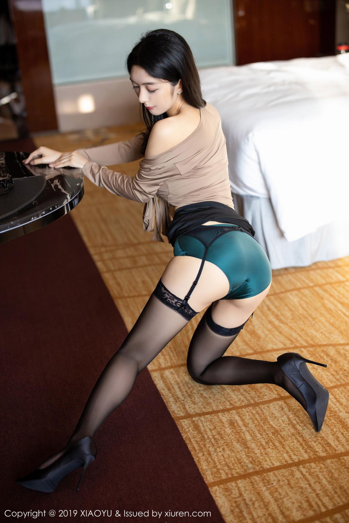 [XiaoYu] Vol.154 Di Yi 49P, Black Silk, Di Yi, Underwear, XiaoYu