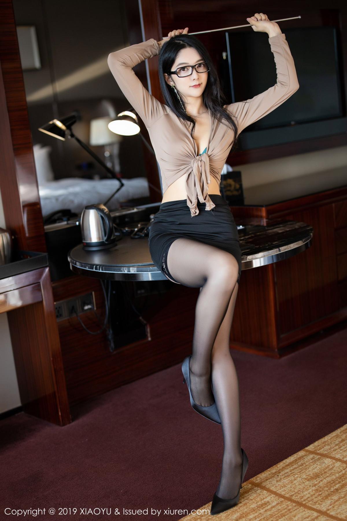 [XiaoYu] Vol.154 Di Yi 4P, Black Silk, Di Yi, Underwear, XiaoYu