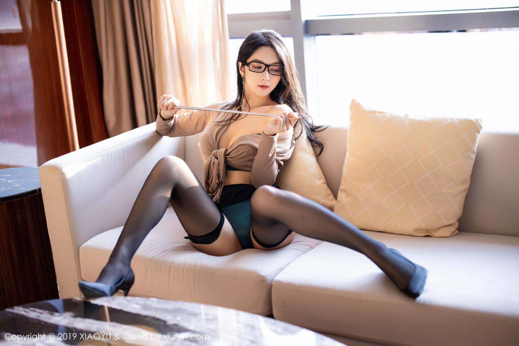 [XiaoYu] Vol.154 Di Yi 52P, Black Silk, Di Yi, Underwear, XiaoYu