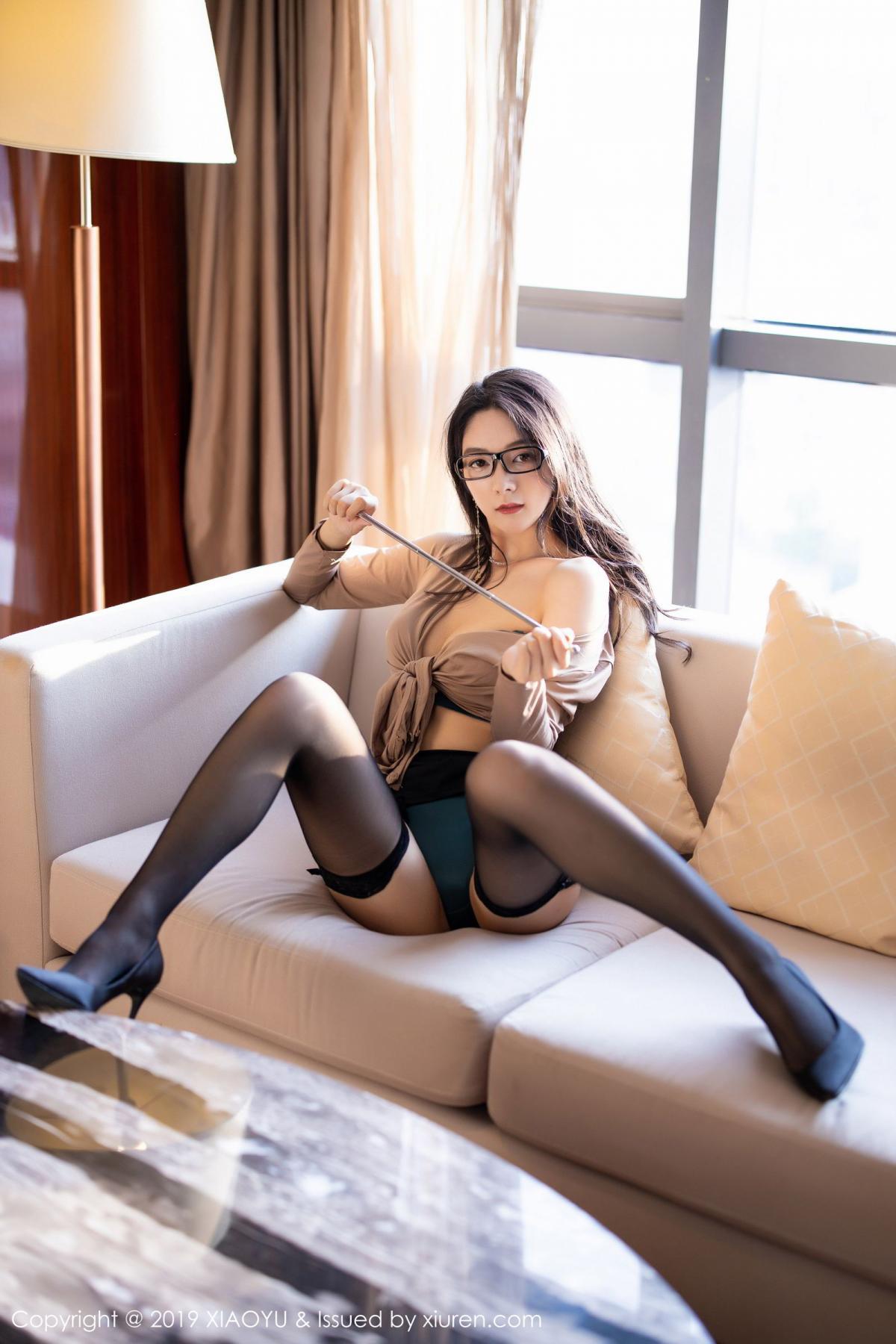 [XiaoYu] Vol.154 Di Yi 53P, Black Silk, Di Yi, Underwear, XiaoYu