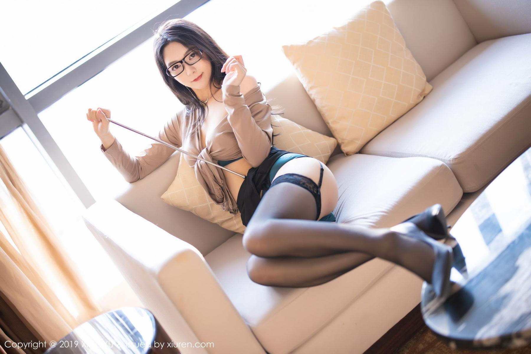 [XiaoYu] Vol.154 Di Yi 56P, Black Silk, Di Yi, Underwear, XiaoYu
